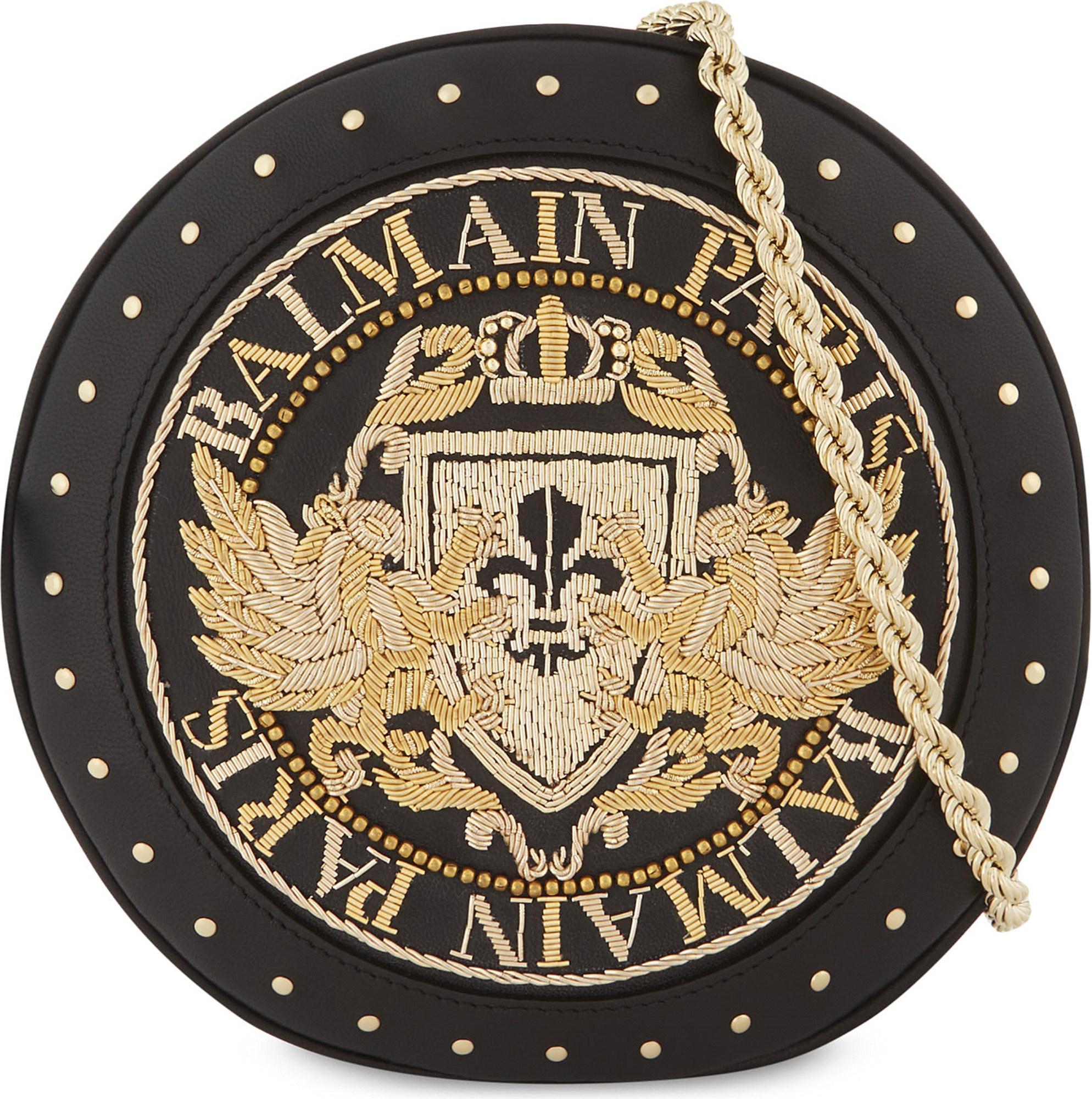 323d7d949d Balmain Embellished Renaissance Disco Cross-body Leather Bag in ...