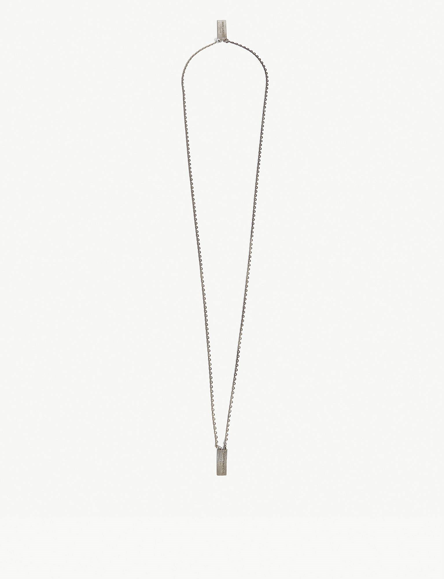 logo plaque necklace - Metallic Saint Laurent JWDK7Cpz