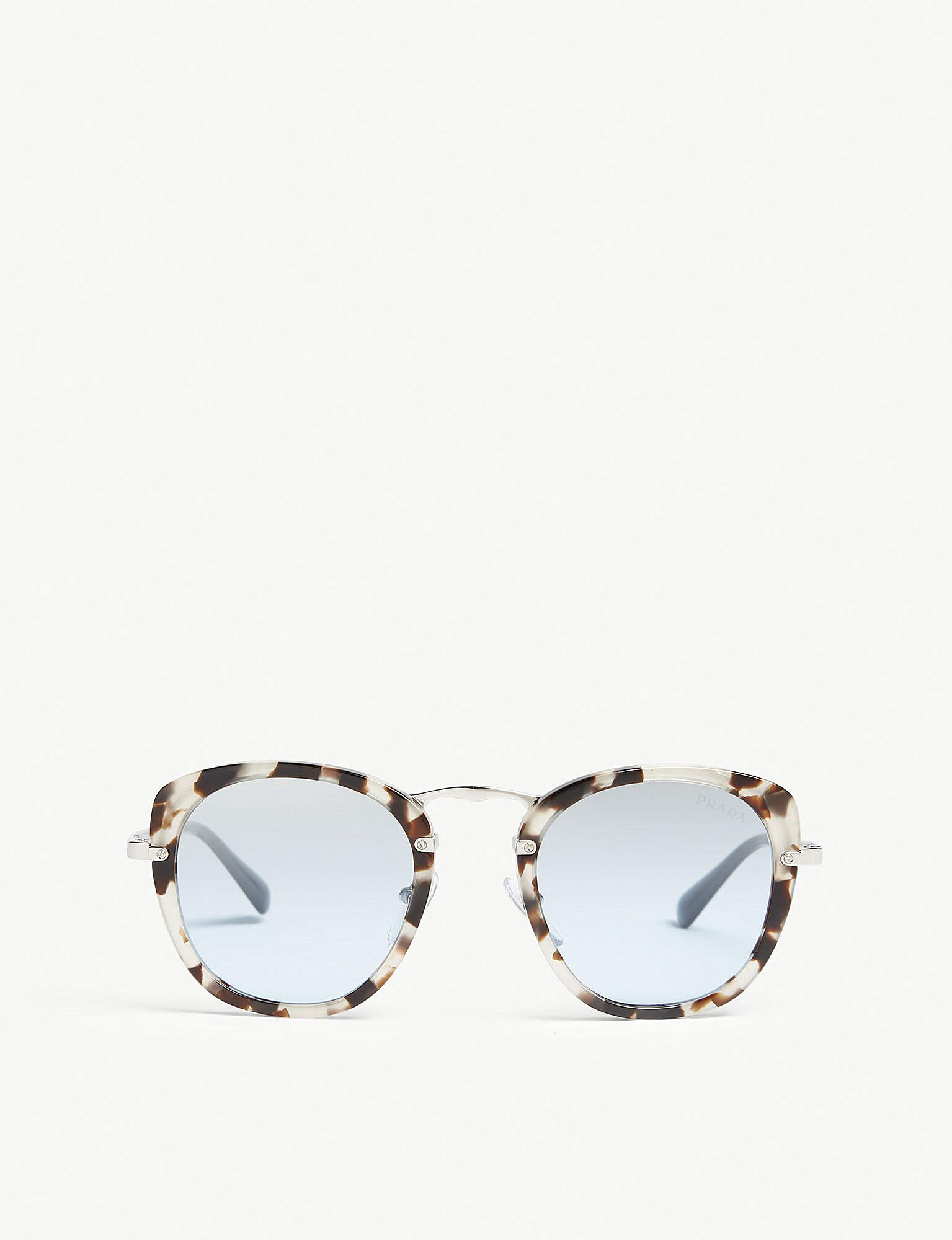 e4596bc1fb Prada Pr58us Phantos Square-frame Sunglasses in Brown - Lyst