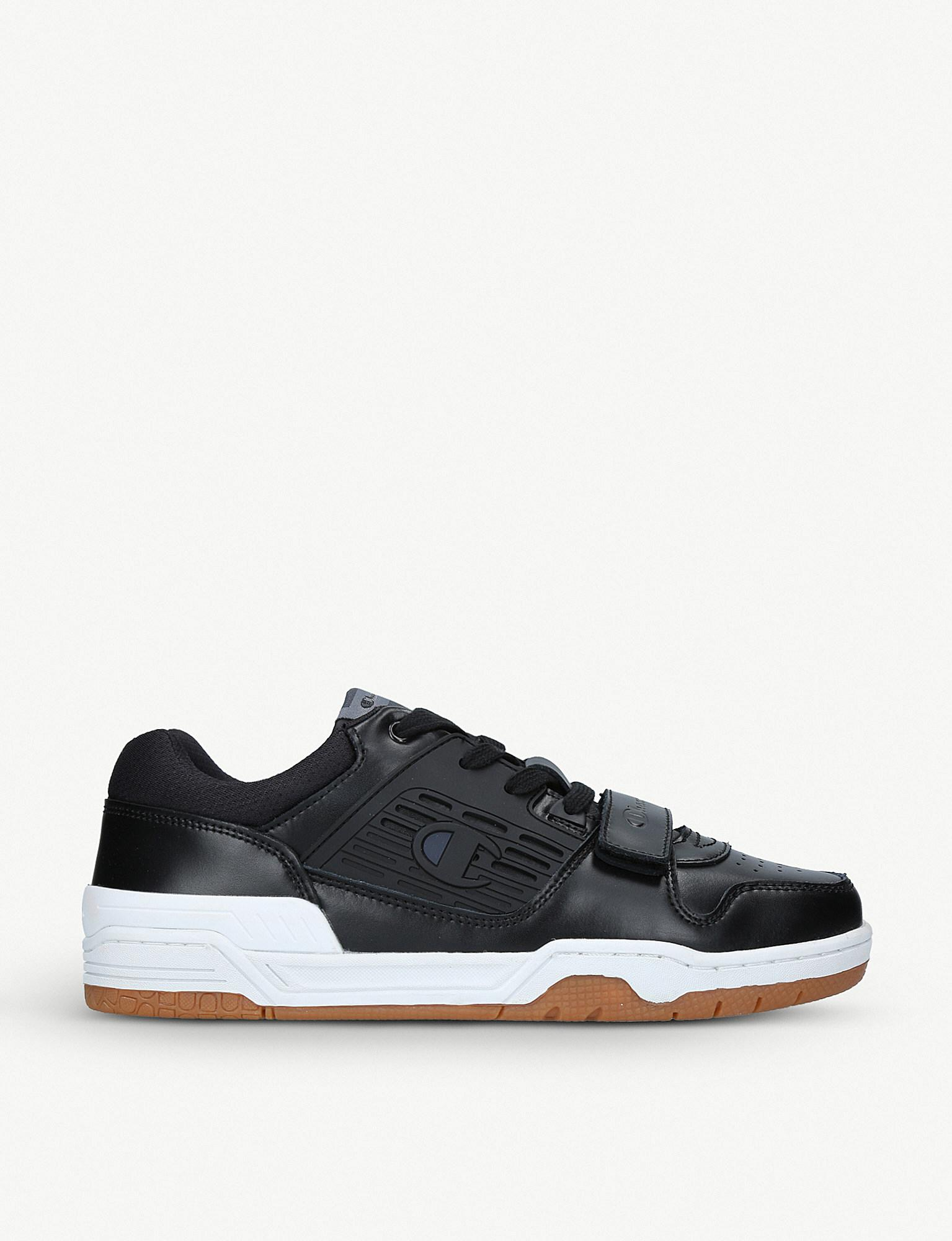d3025bad75a Lyst - Champion 3 On 3 Leather Low-top Trainers in Black for Men