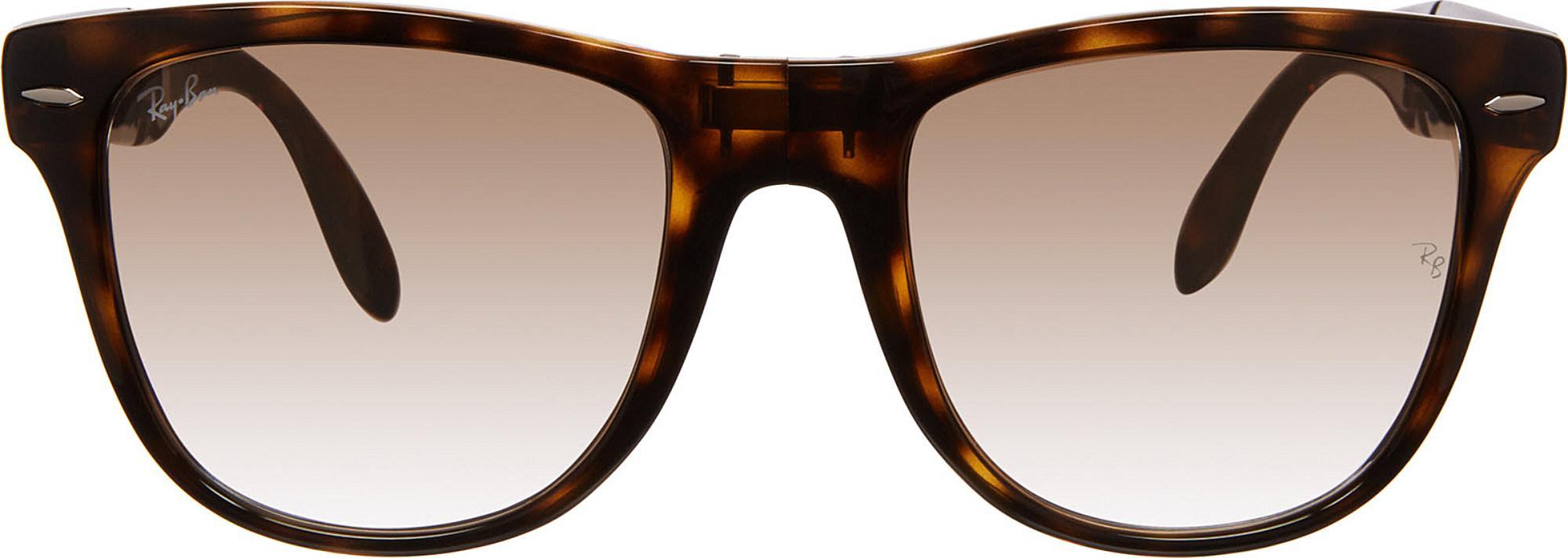 fe6f8e8c247f9 Ray-Ban. Women s Brown Wayfarer Folding Classic Square Sunglasses Rb4105 50