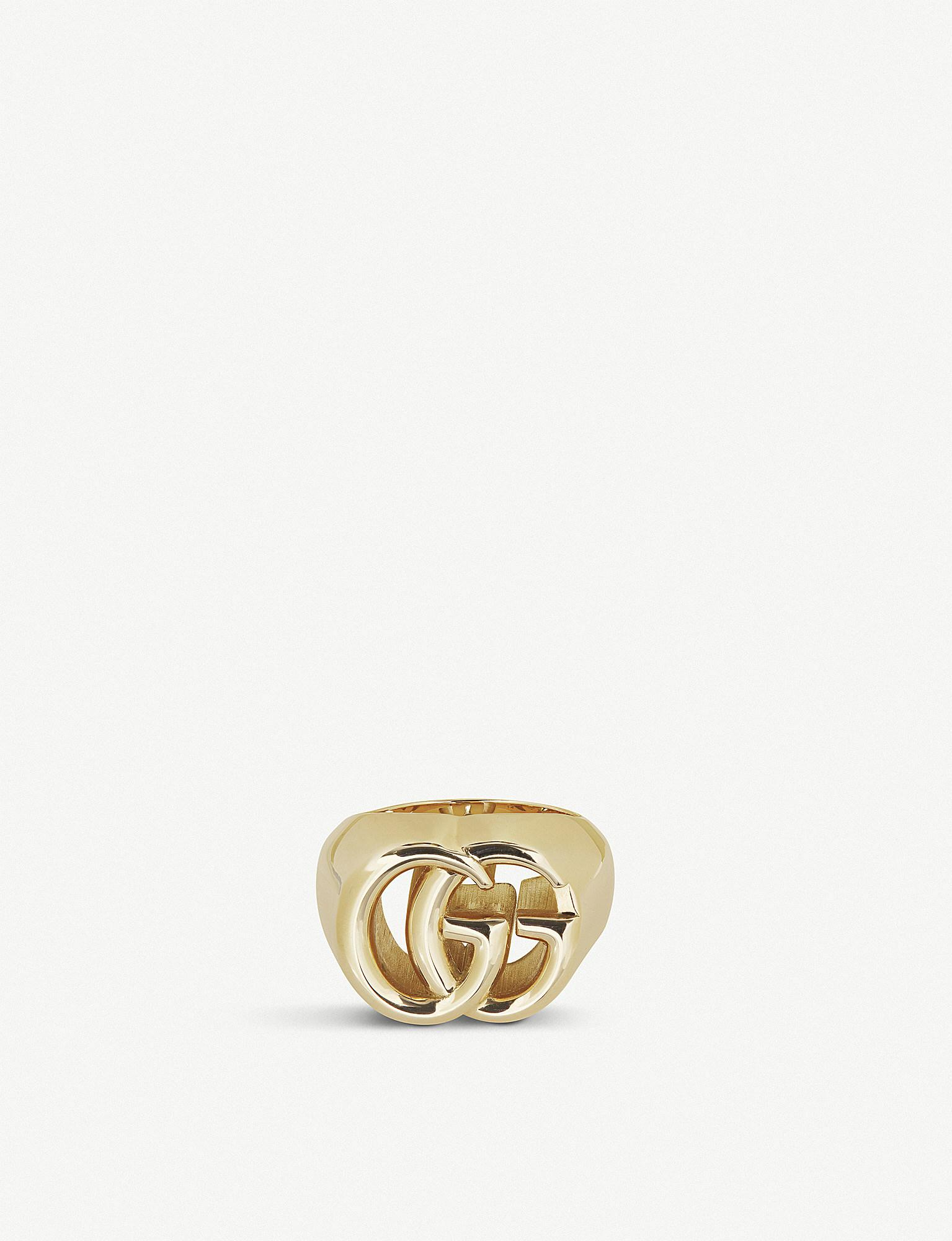 bf50574a24e9 Lyst - Gucci GG Running 18ct Yellow-gold Ring in Metallic
