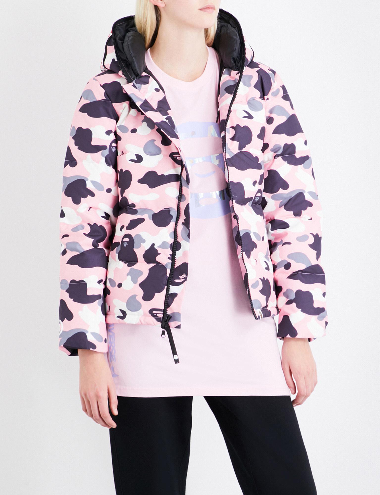 Lyst - A Bathing Ape Abc Camo-print Shell-down Jacket in Pink ed7b9aece