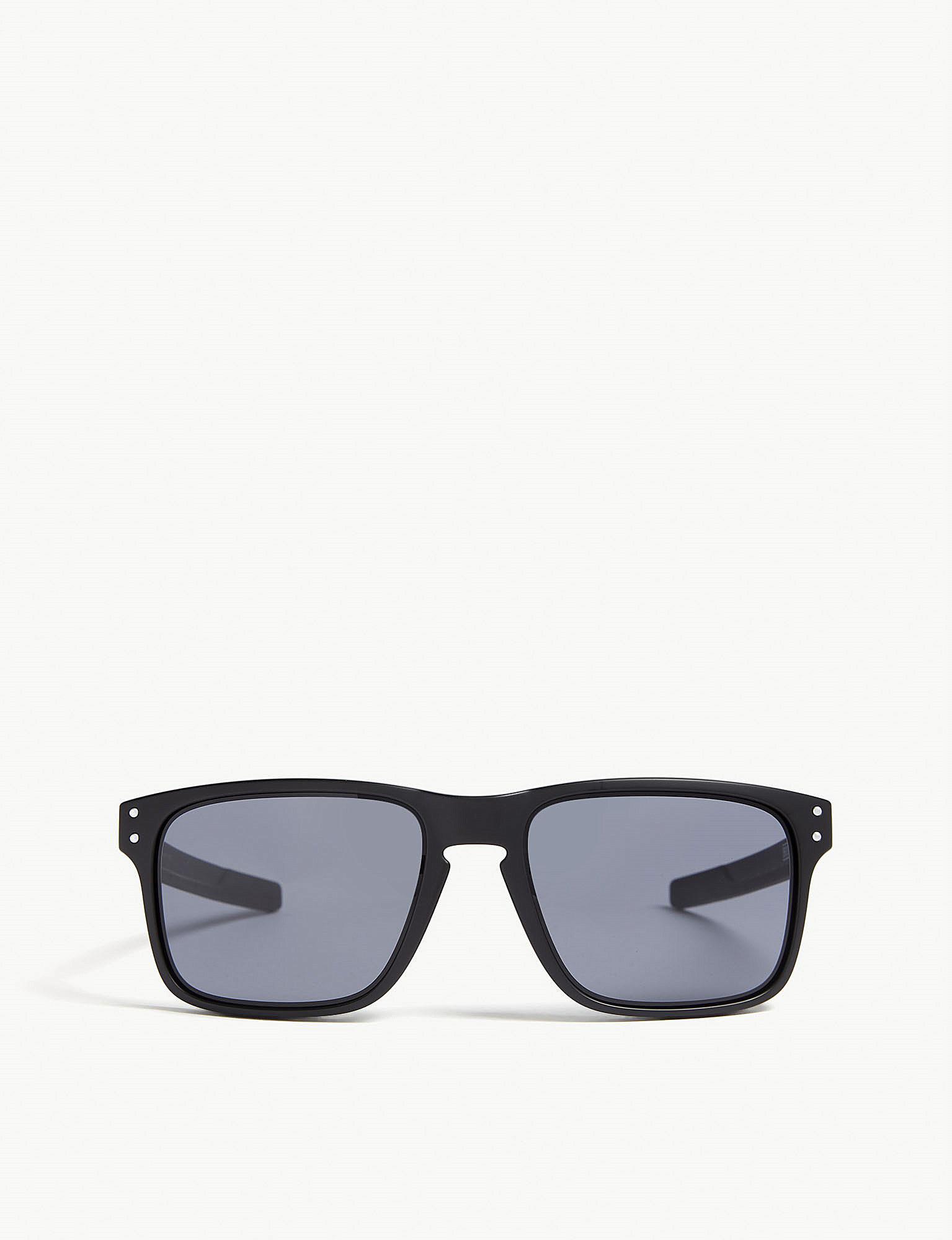 e283457ef1 Oakley Mens Black Holbrook Mix Square-frame Sunglasses in Black for ...