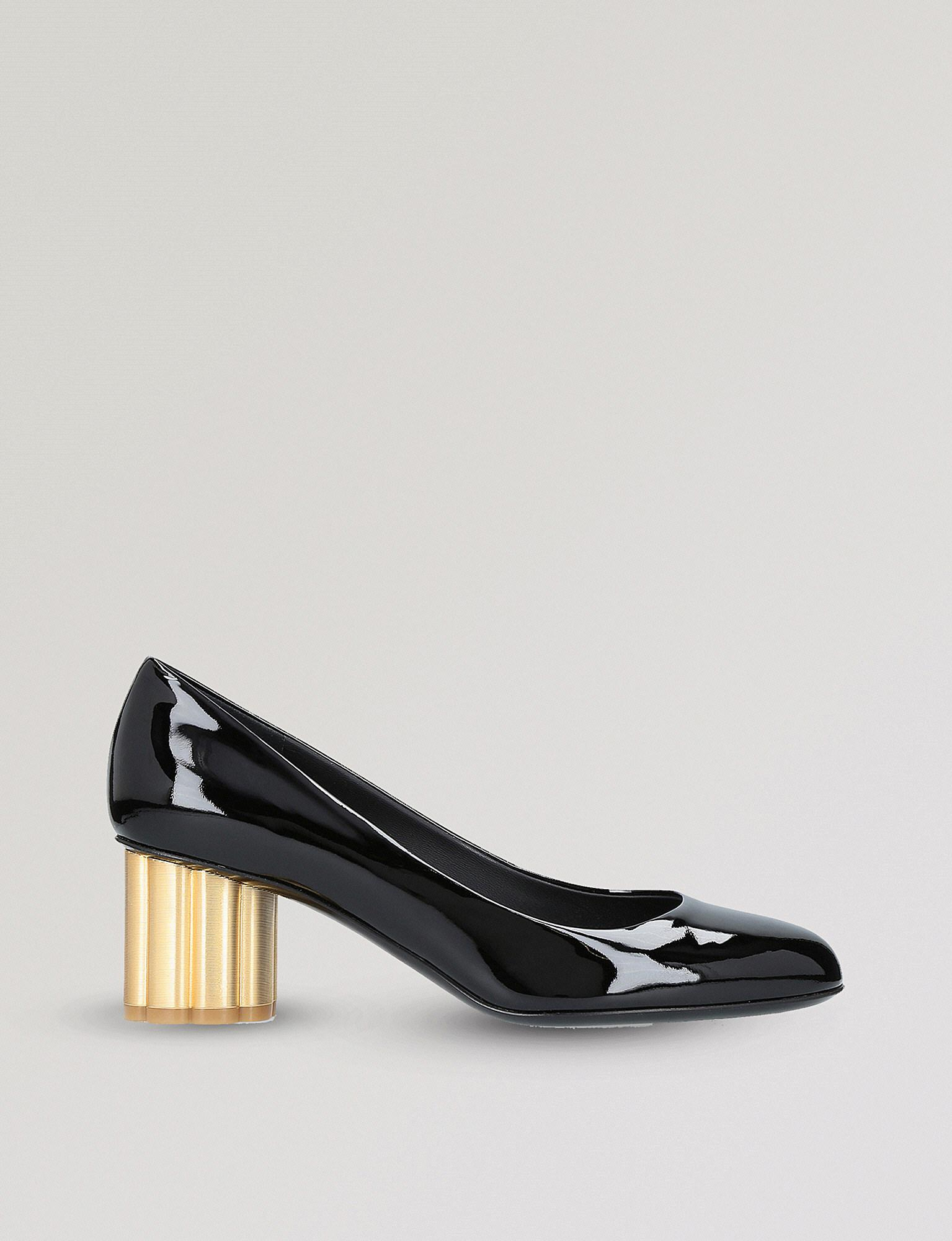 Grey Outlet Store Online For Cheap For Sale Lucca 55 Patent Pumps in Black Patent Leather Salvatore Ferragamo Free Shipping Discount Authentic Free Shipping Lowest Price pmG8cdu8