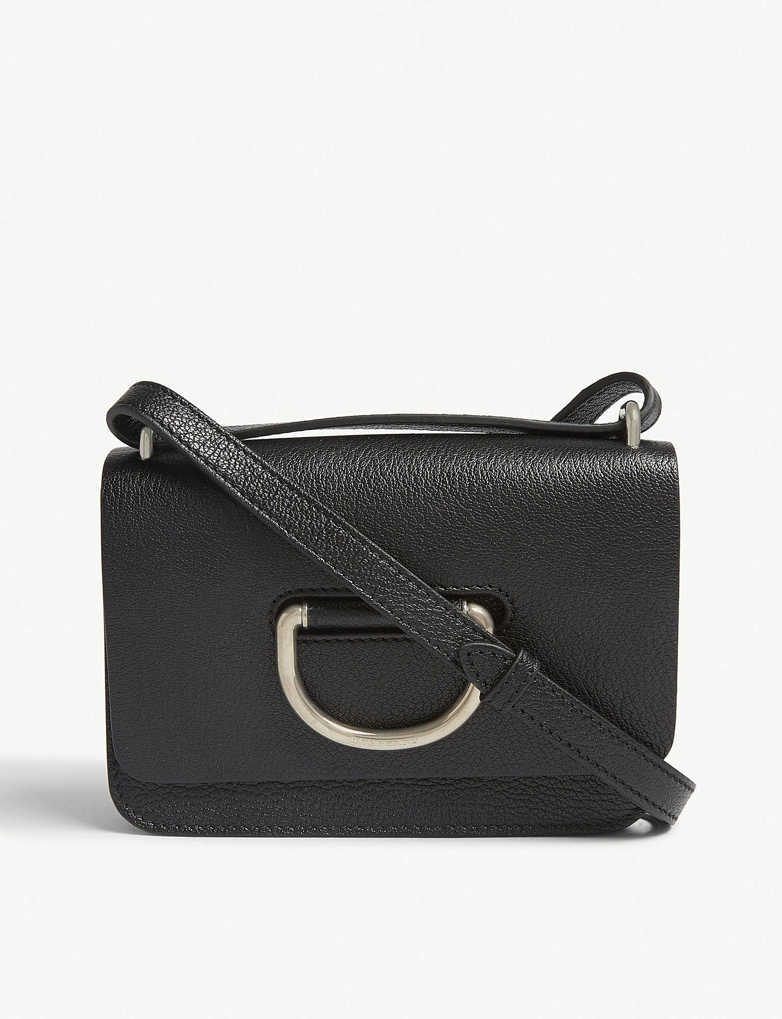 Lyst - Burberry The Mini Leather D-ring Bag in Black - Save 23% dfe9632eb814d