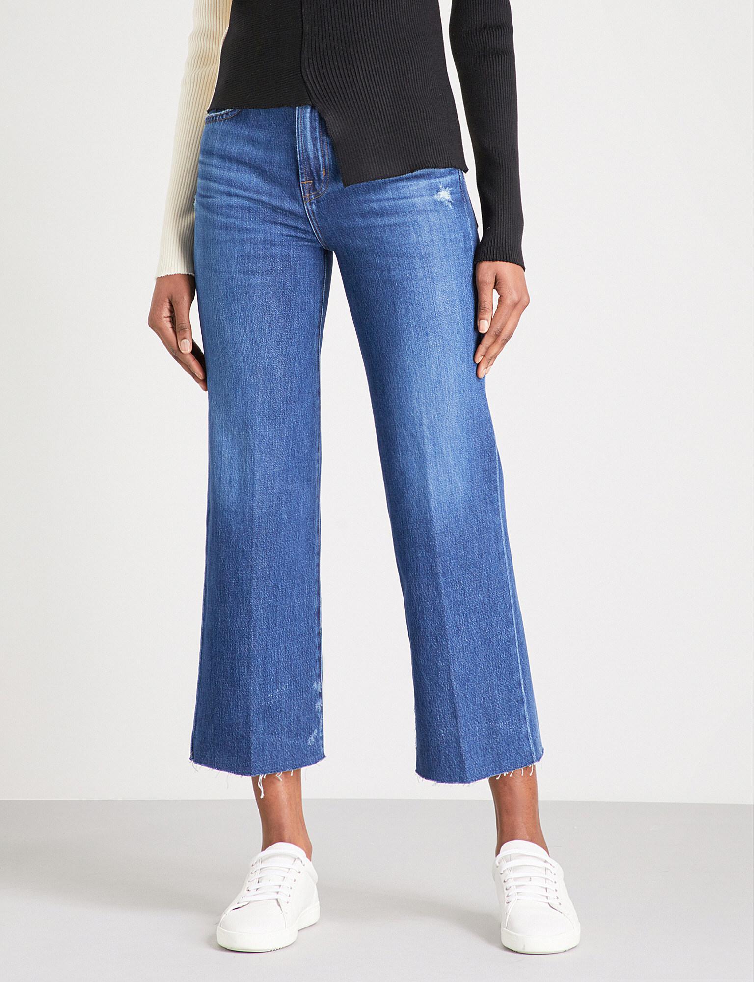 Joan High Rise Wide Leg Crop Jeans - Double take blue J Brand apHBD6wCa