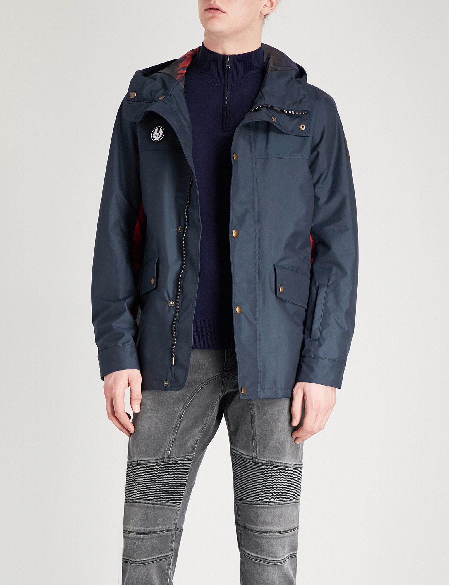 Lyst In Belstaff Hooded Shell For Jacket Kersbrook Blue Men FcF4yq8Zr