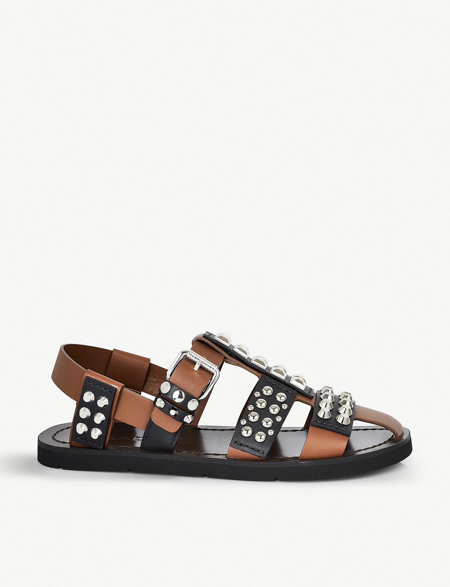 634b2fe05503f Lyst - Prada Fisherman Studded Leather Sandals in Black for Men
