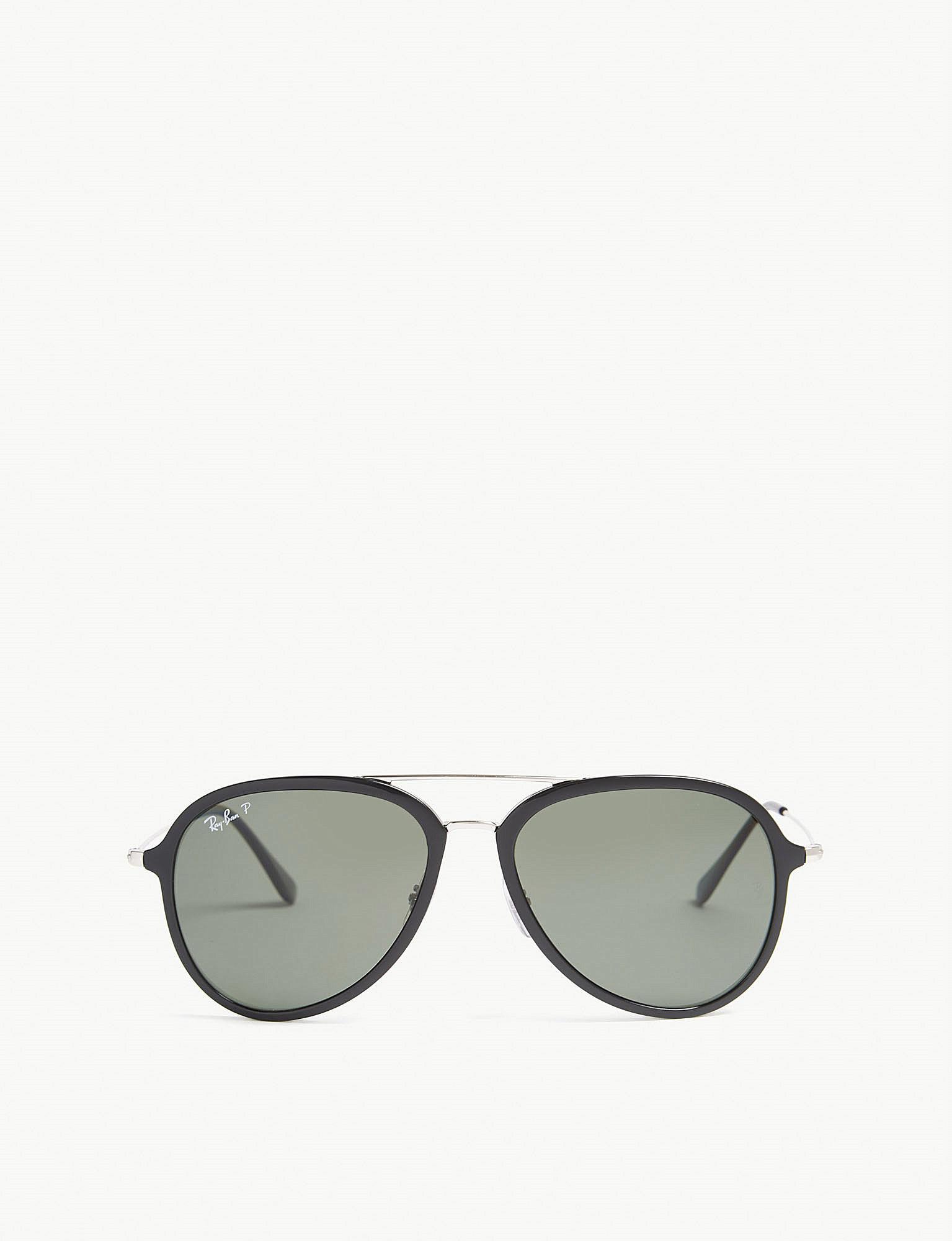 ce6ca72e3e Lyst - Ray-Ban Rb4298 Pilot-frame Sunglasses in Black