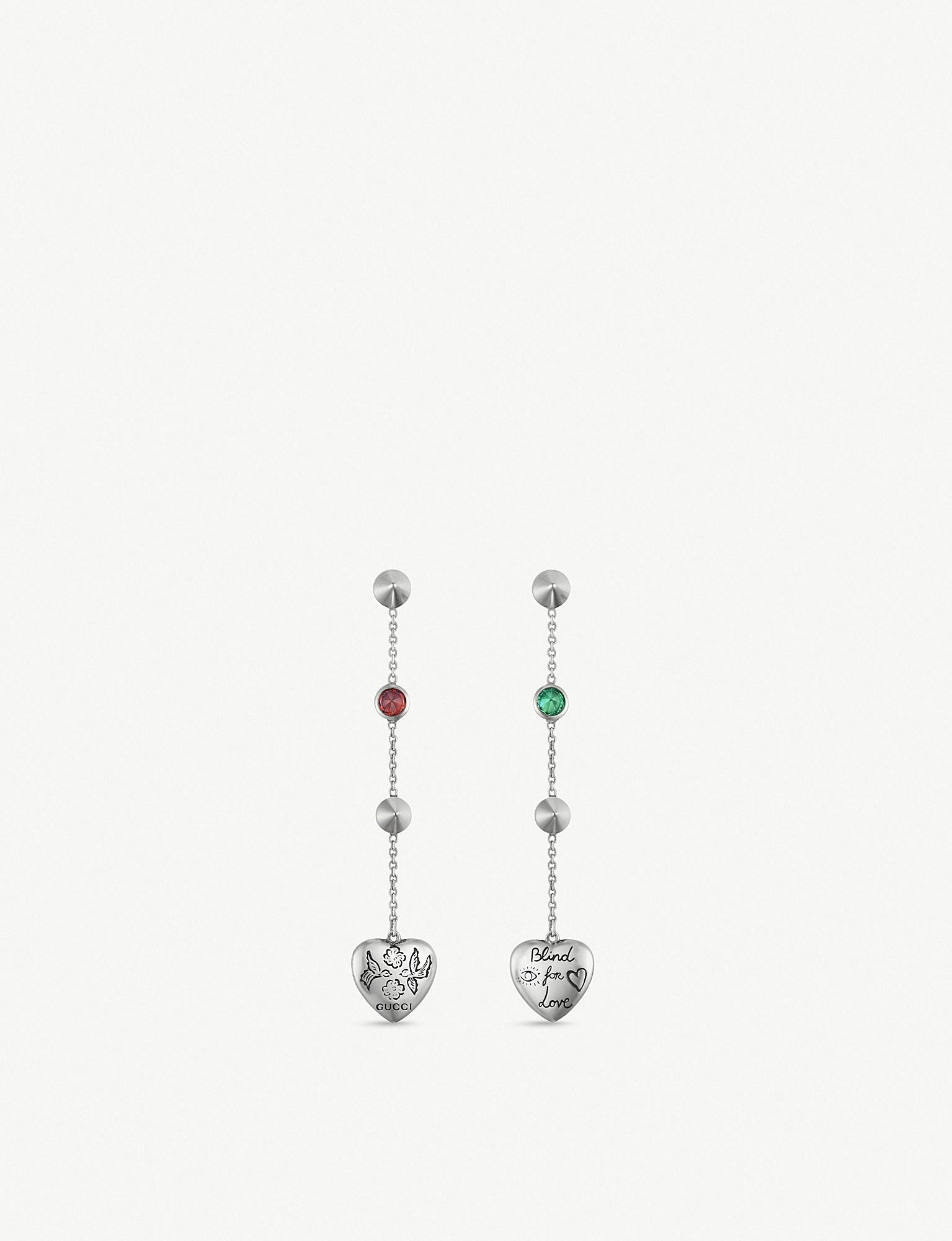 1f7f1079fa6 Gucci Blind For Love Engraved Sterling Silver And Multi-coloured ...