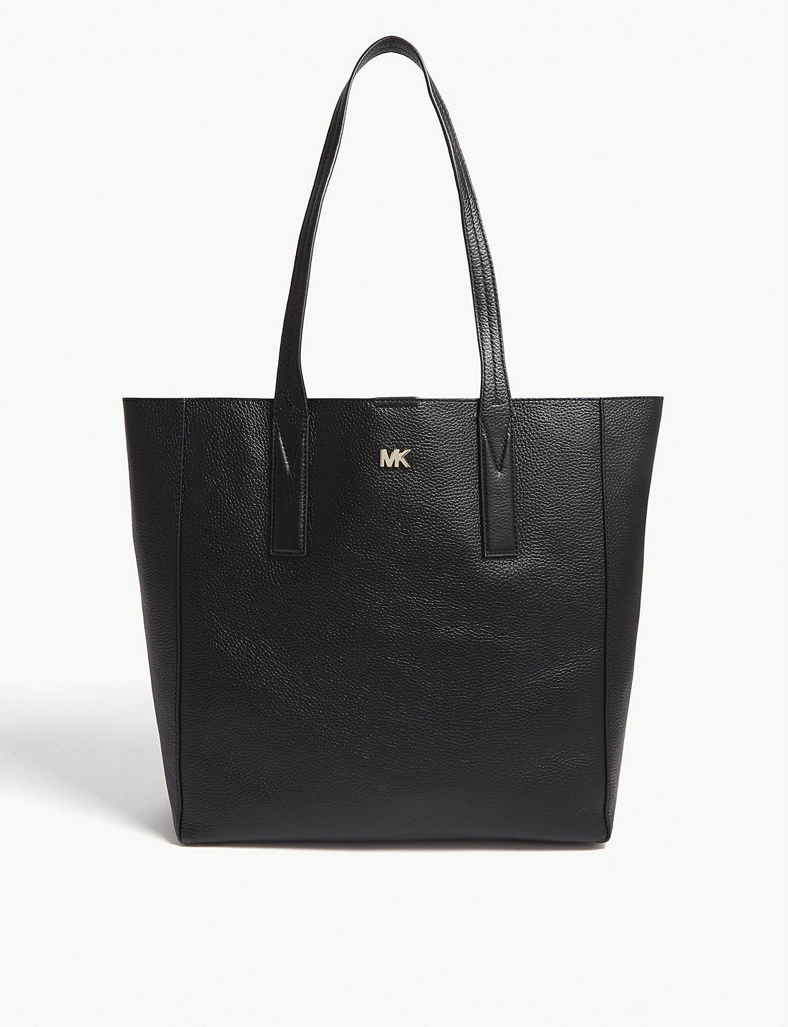 01bed63d220e Lyst - Michael Michael Kors Michael Kors Black Leather Tote Bag in Black