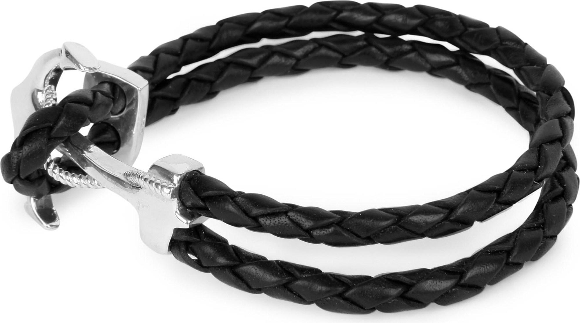 Nialaya braided anchor bracelet - Blue kOd7XJ