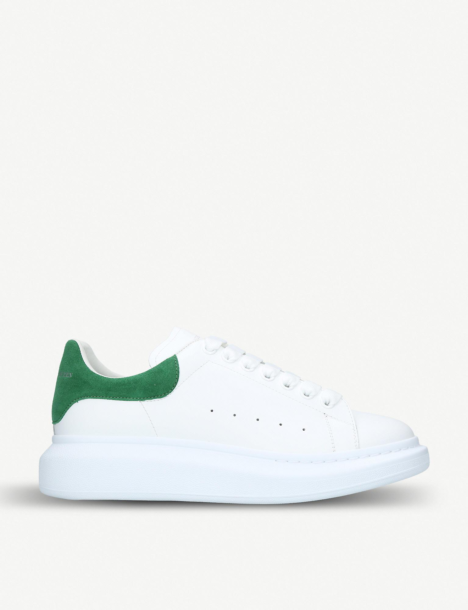 Alexander McQueen Leather Show Sneakers in White for Men