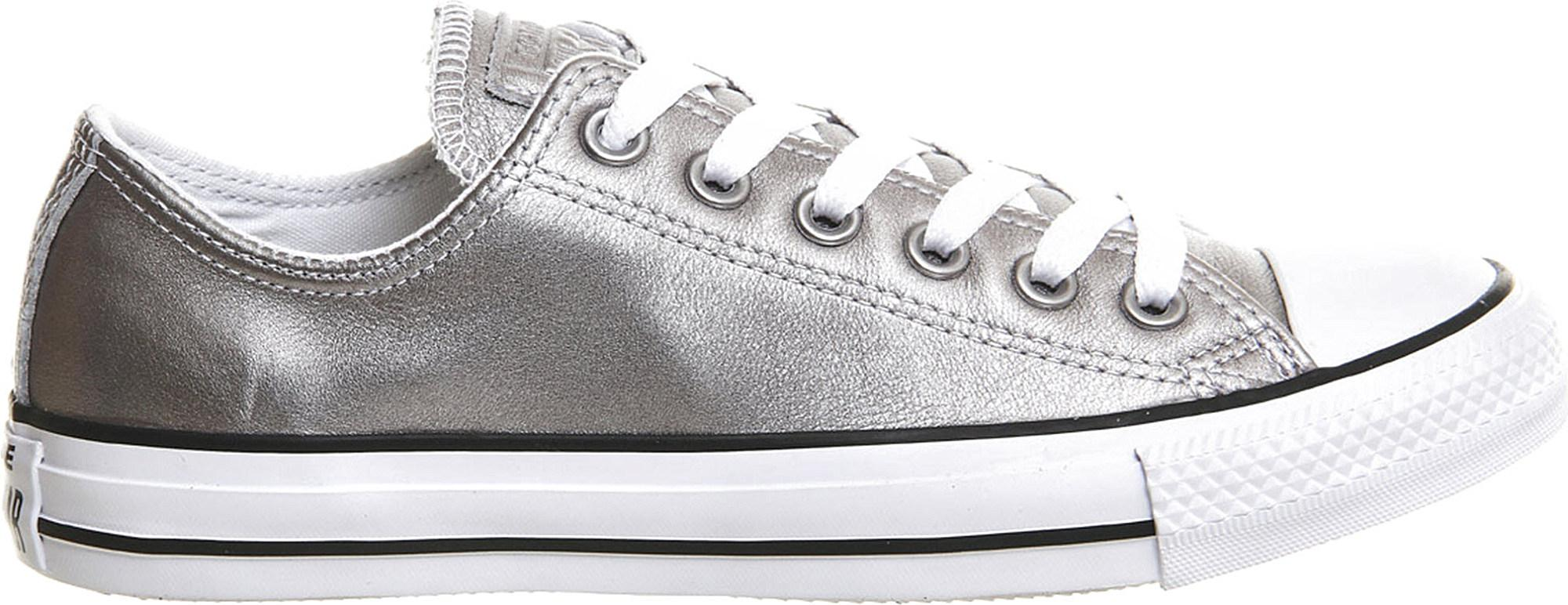 0122f1fc012db1 Lyst - Converse Allstar Low-top Leather Trainers in Metallic