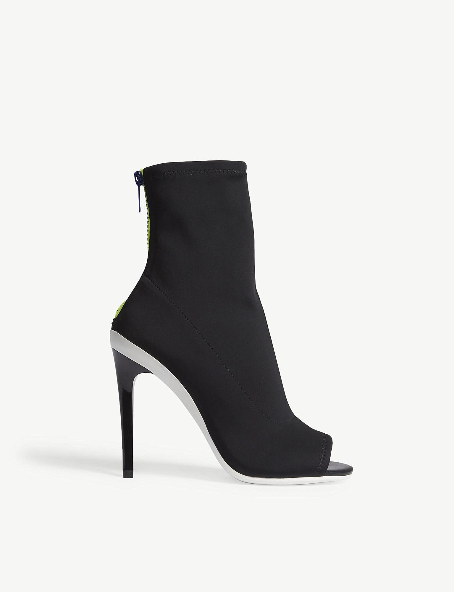 7abb0044f8445 ALDO Ulyssia Open-toe Heeled Ankle Boots in Black - Lyst