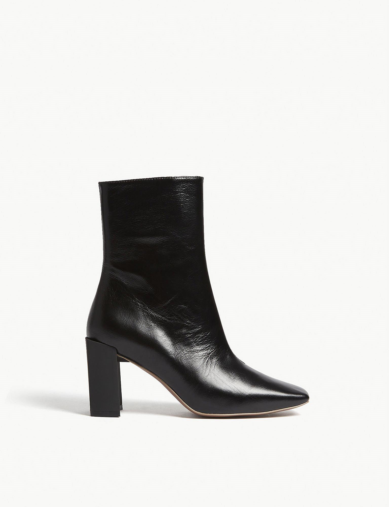 e4be26087b7 Mo&co. Black High-rise Leather Boots