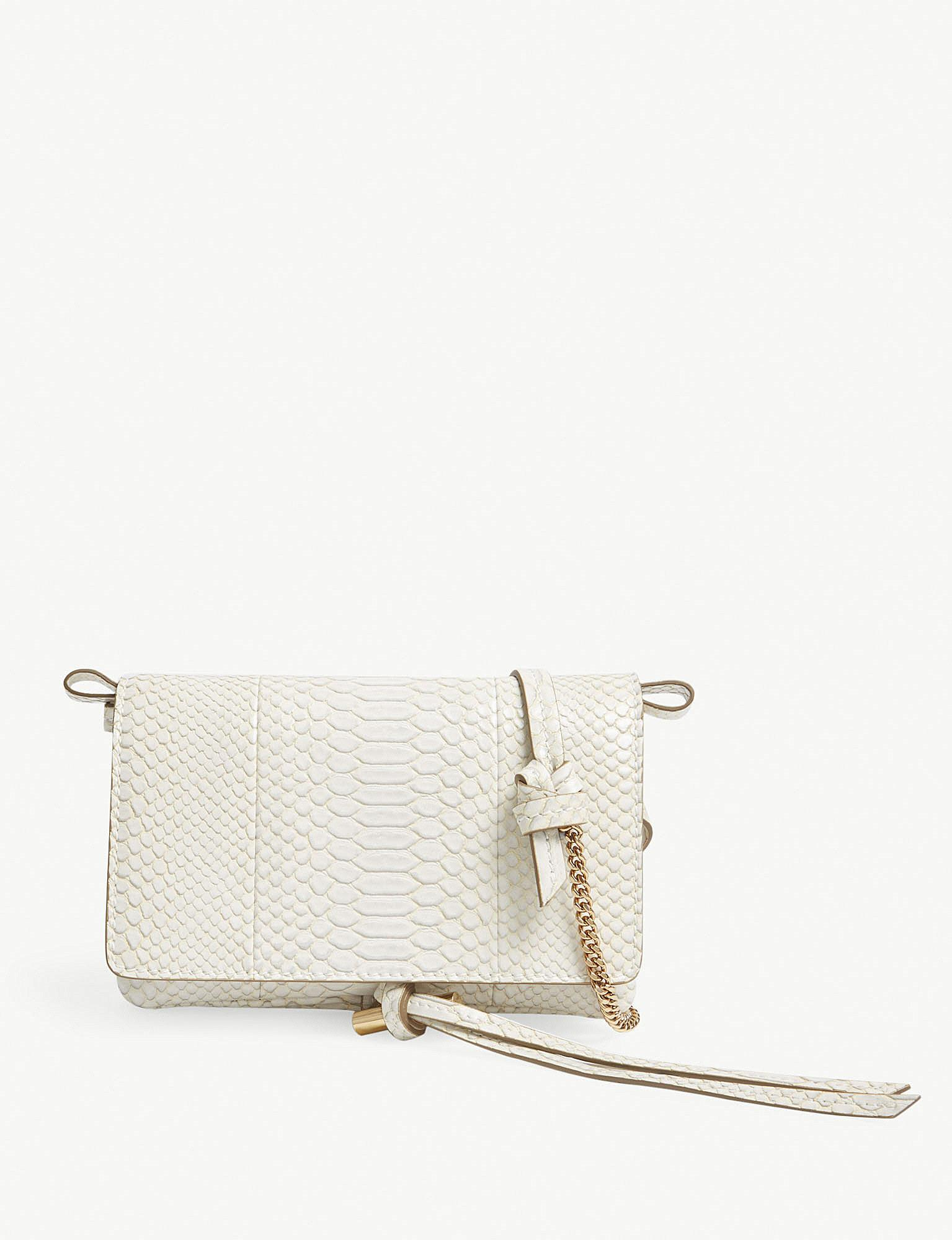 9bcbad69e42f Stella McCartney Flo Small Faux-leather Mini Shoulder Bag in White ...
