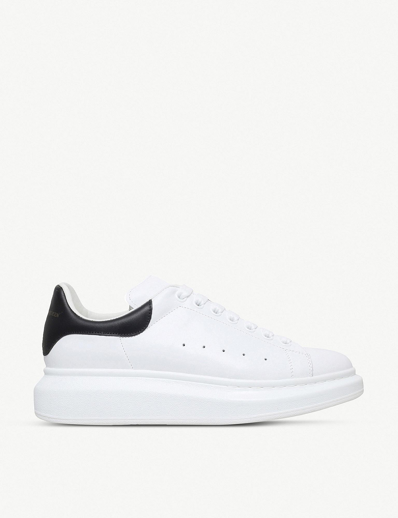 c371f711b Lyst - Alexander McQueen Mens White Show Leather Platform Sneakers ...