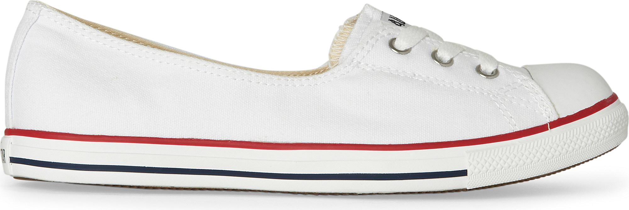 56dee58e7eef Converse All Star Dance Lace Trainers in White - Lyst