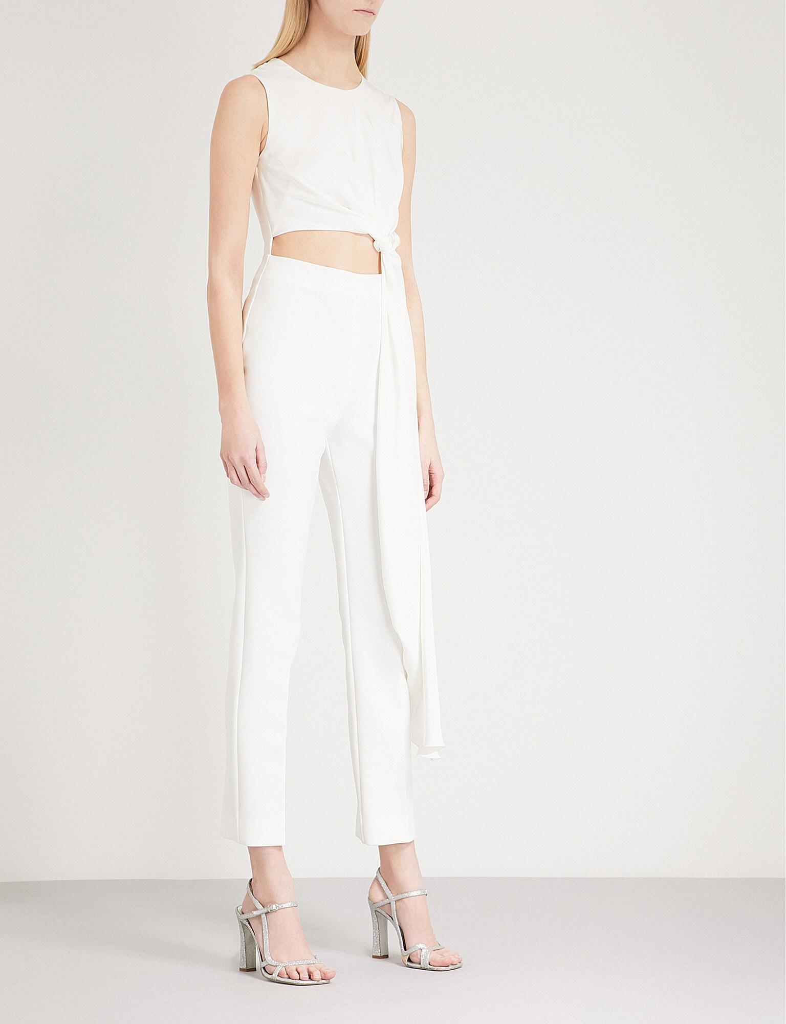 a6d75c1d747 ROKSANDA Thurloe Silk-blend Jumpsuit in White - Lyst