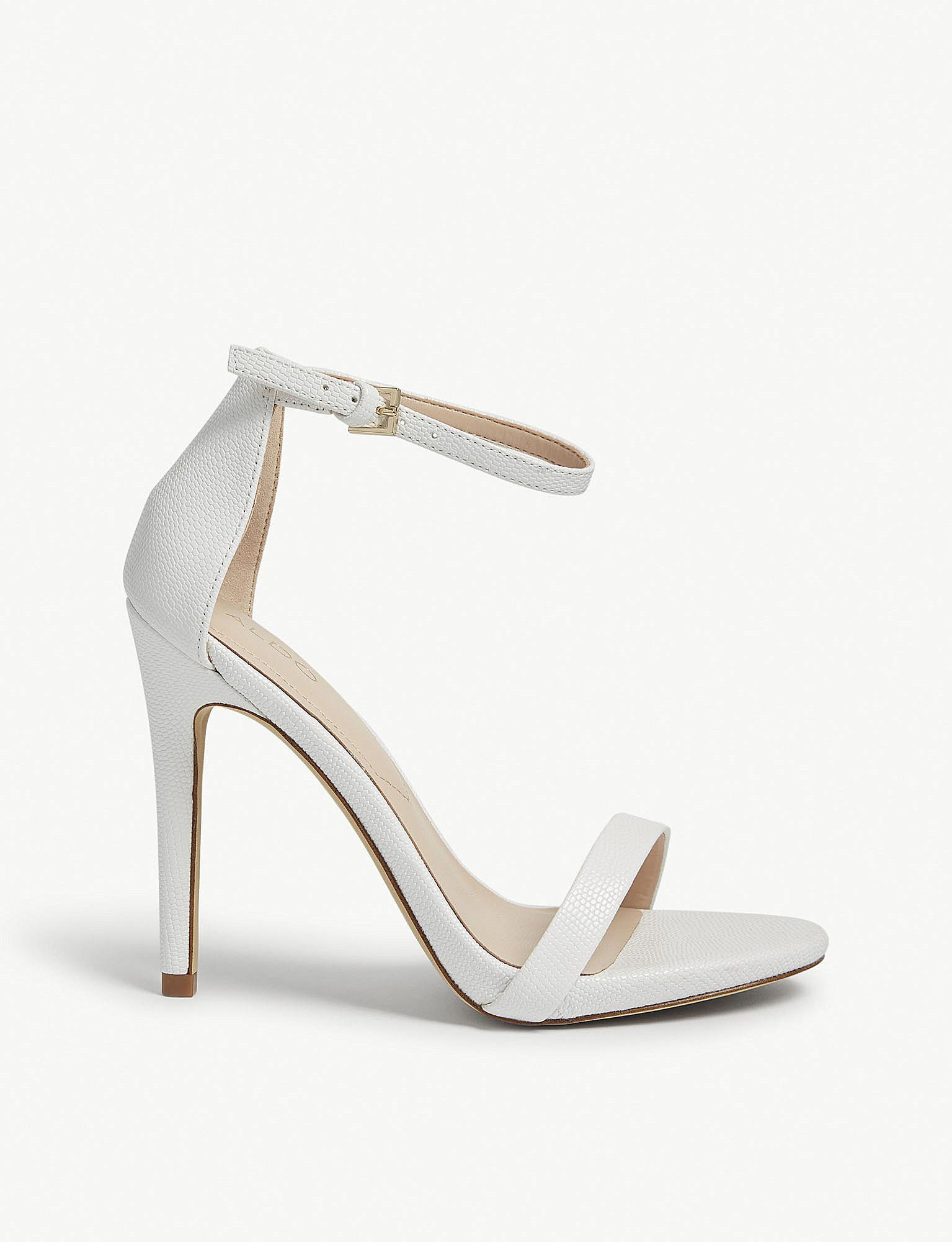 ce463187f542 ALDO Caraa High Ankle Strap Sandals in White - Lyst