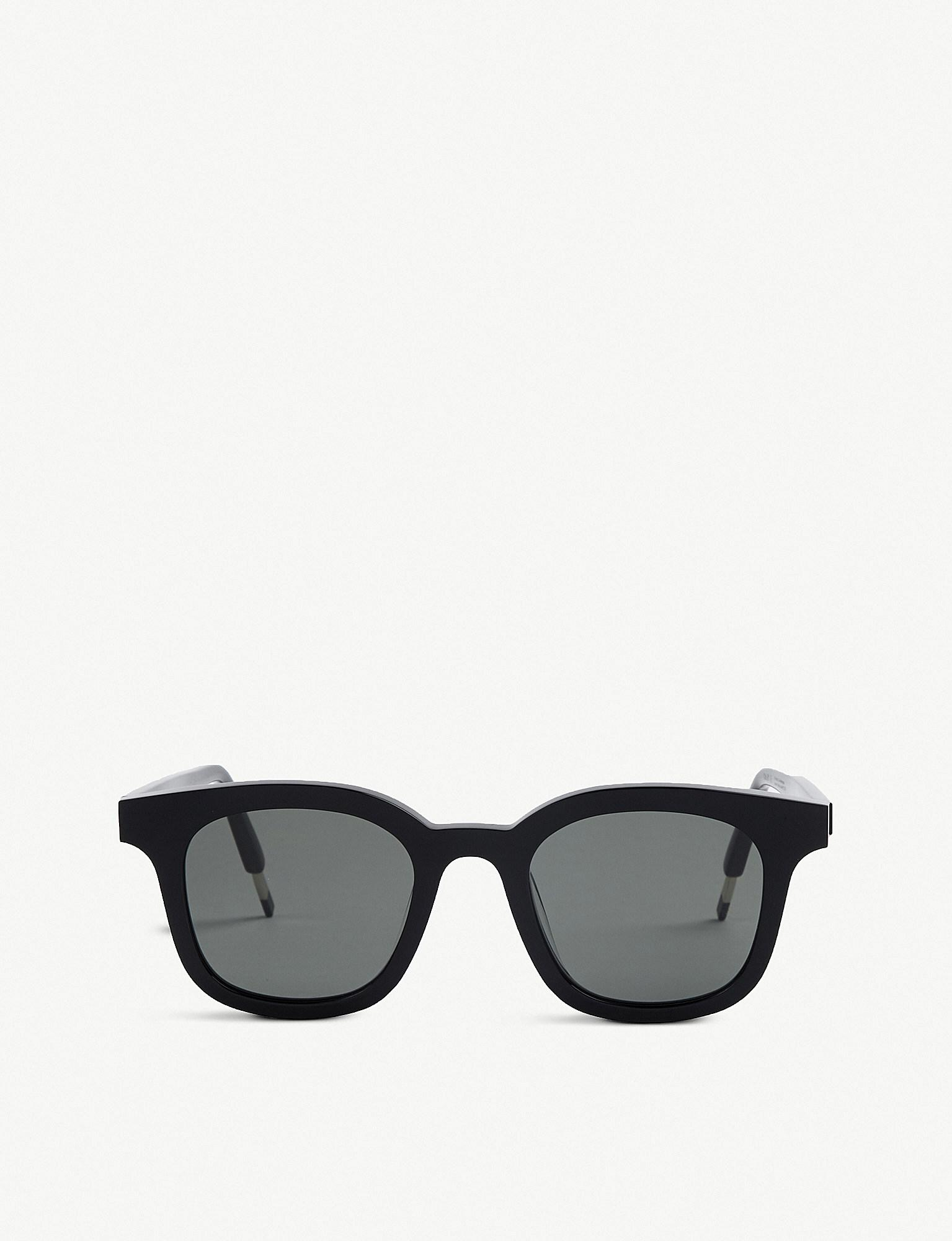 2ab8dc21e730 Gentle Monster Dal Lake Acetate Sunglasses in Black - Lyst