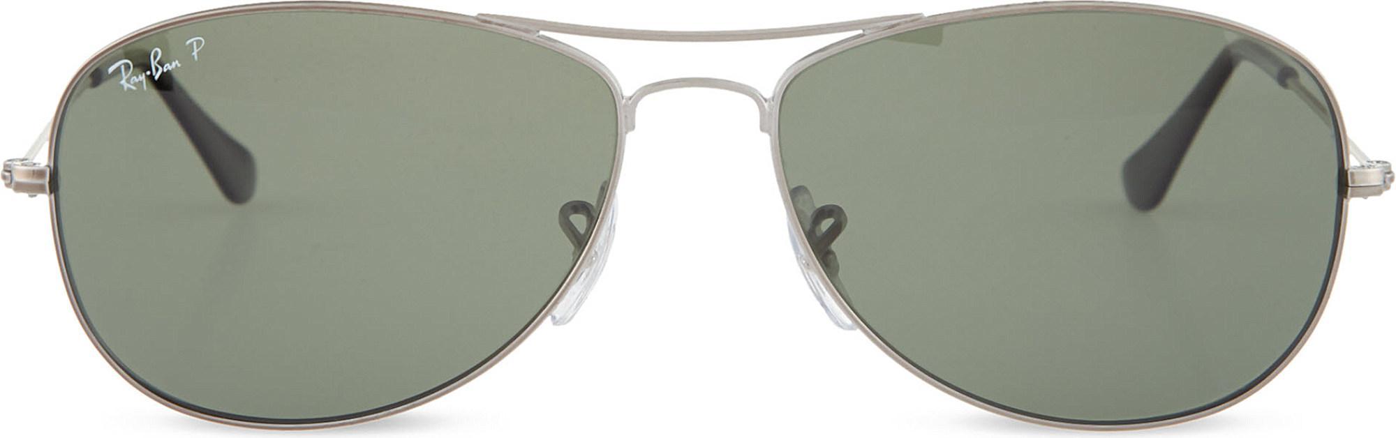 96d22511af Lyst - Ray-Ban Original Aviator Gunmetal-frame Sunglasses Rb3362 59 ...