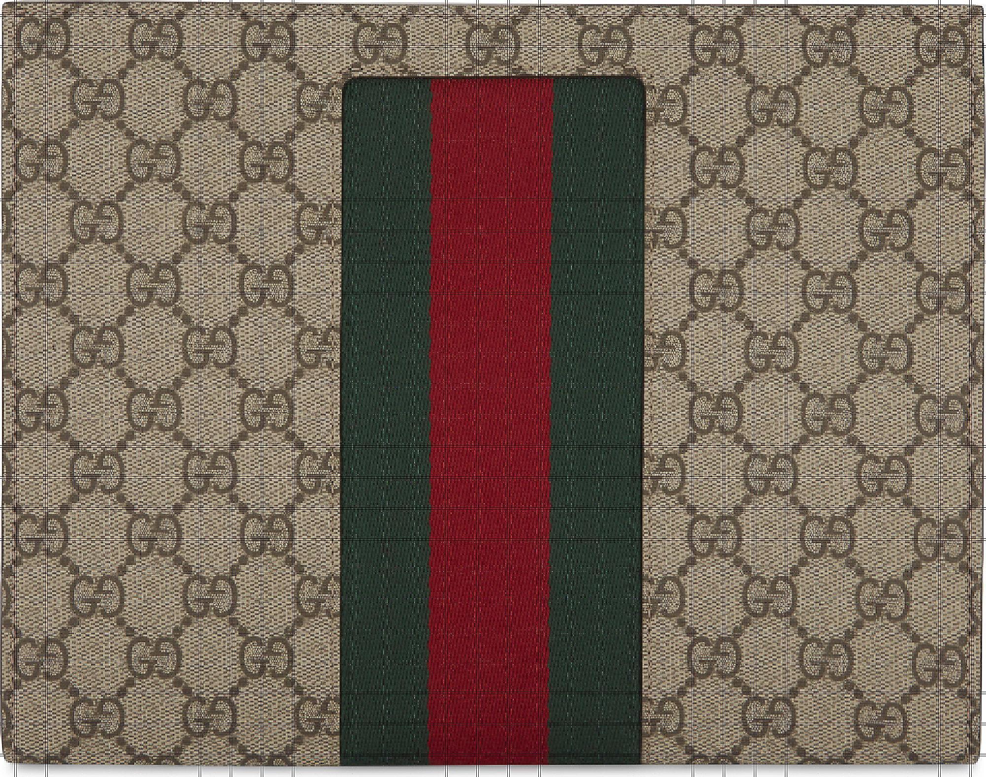 3695c7ebac0 Lyst - Gucci Web Stripe Gg Supreme Wash Bag for Men