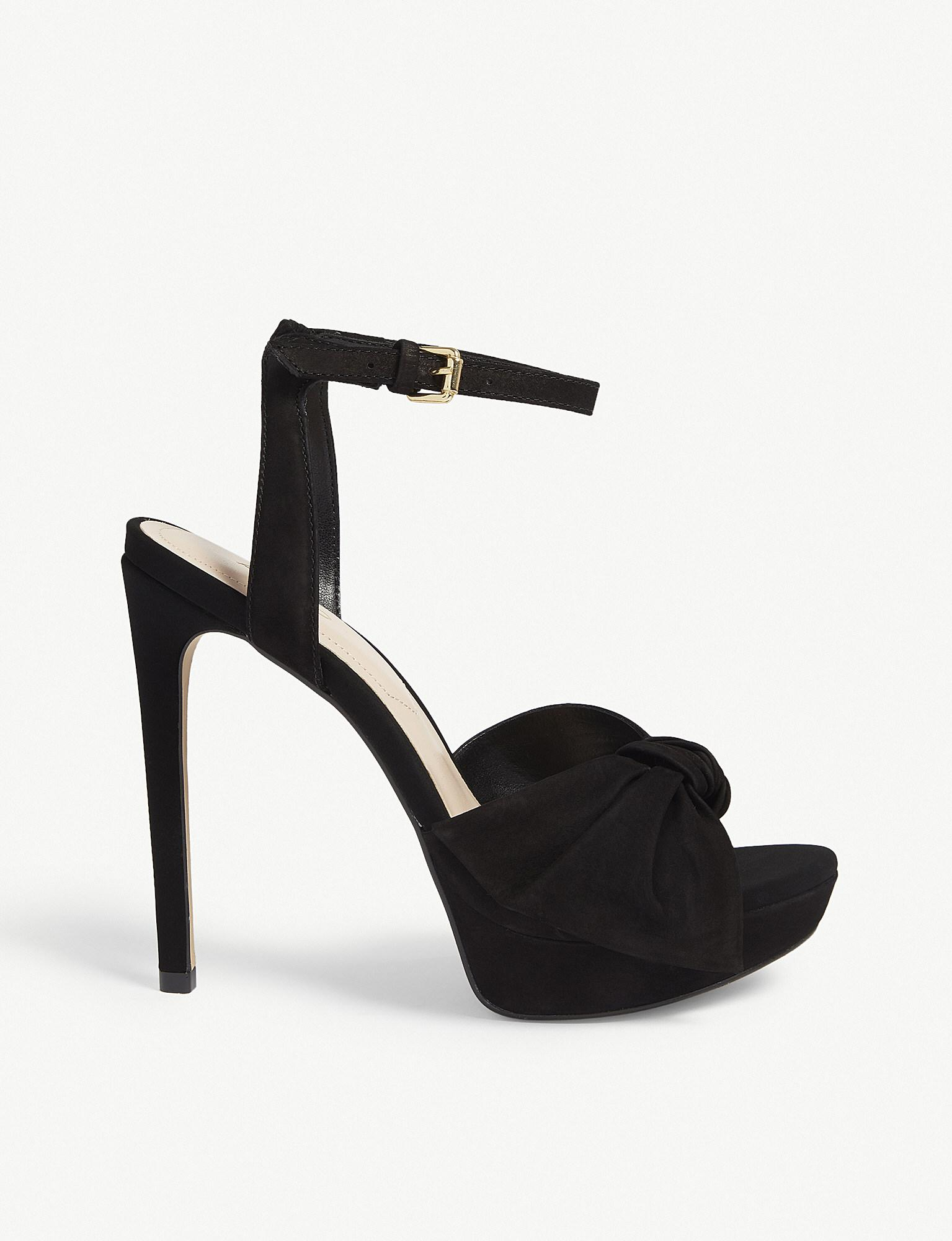 45ca413a0d Lyst - ALDO Sublimity Suede Platform Sandals in Black