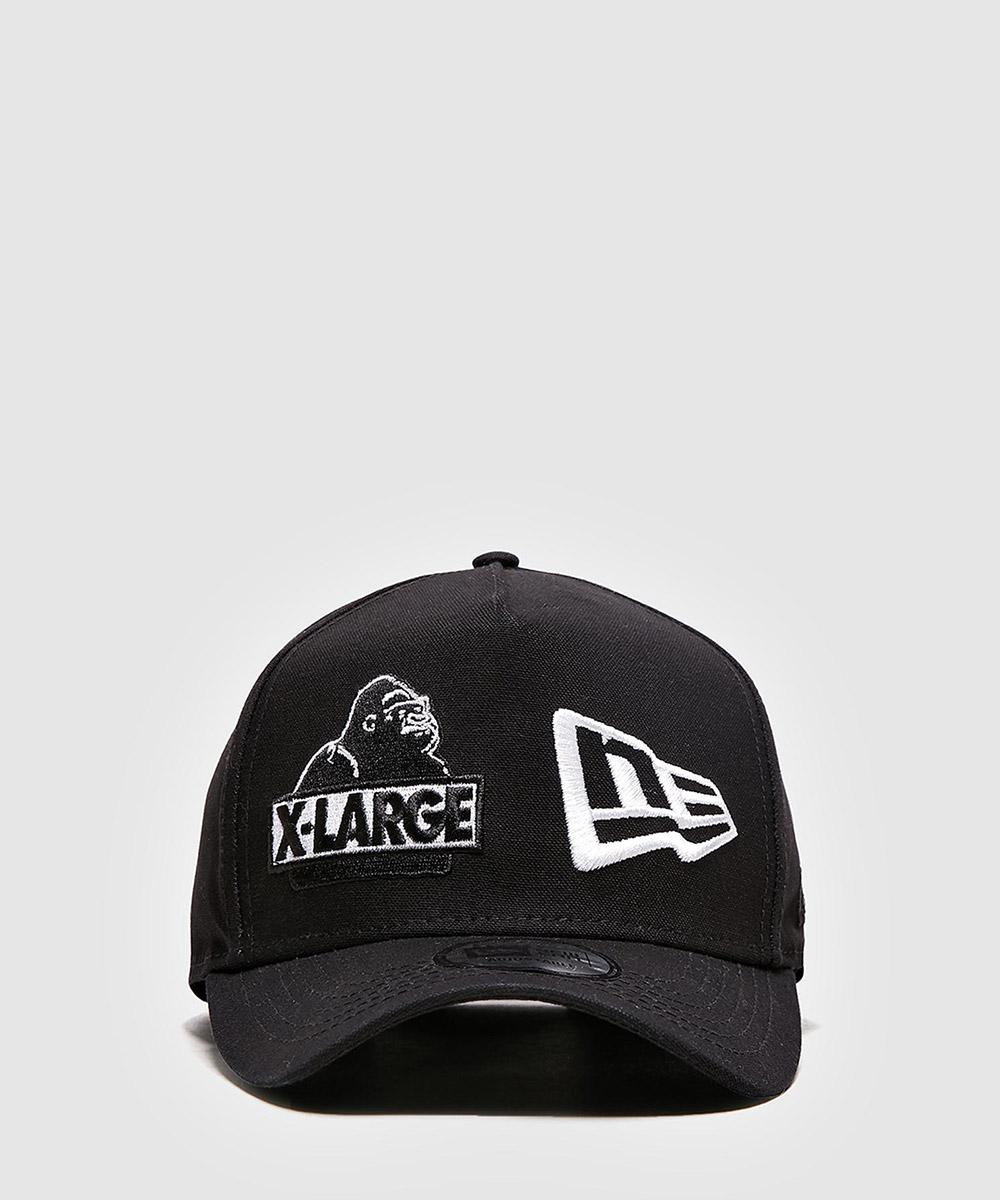 96eee2b26df X-Large New Era Logo Snapback Cap in Black for Men - Lyst