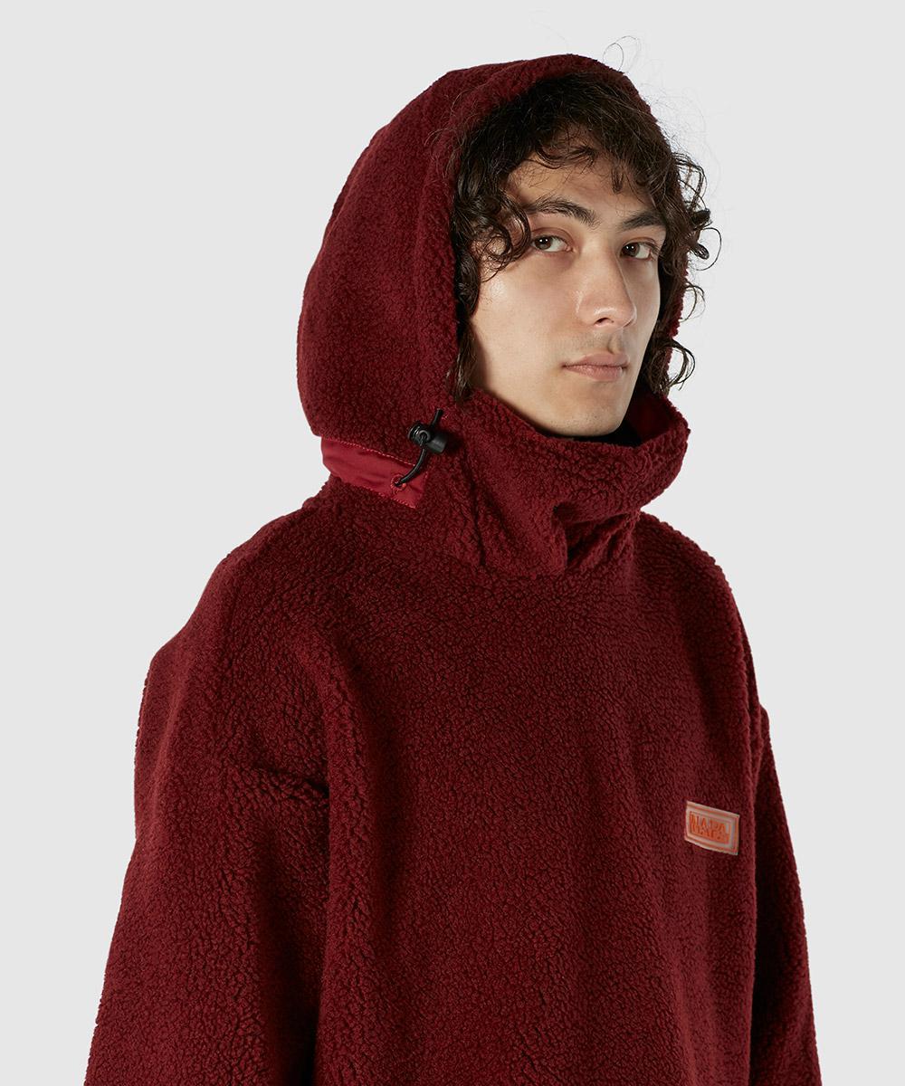Napapijri Red T-jannu Pop Over Polar Fleece for men