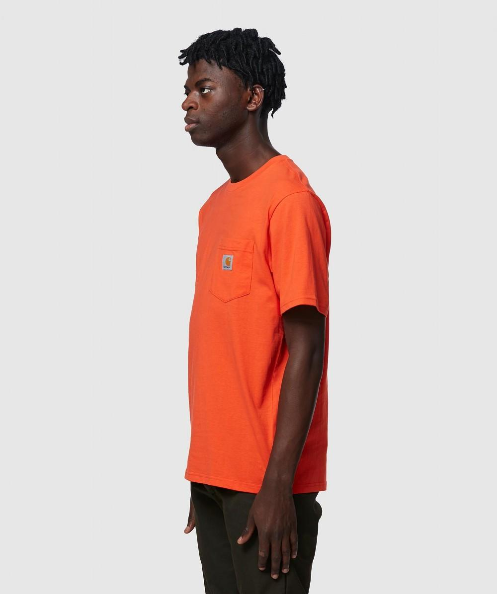 c245afd98 Lyst - Carhartt WIP Pocket T-shirt in Orange for Men