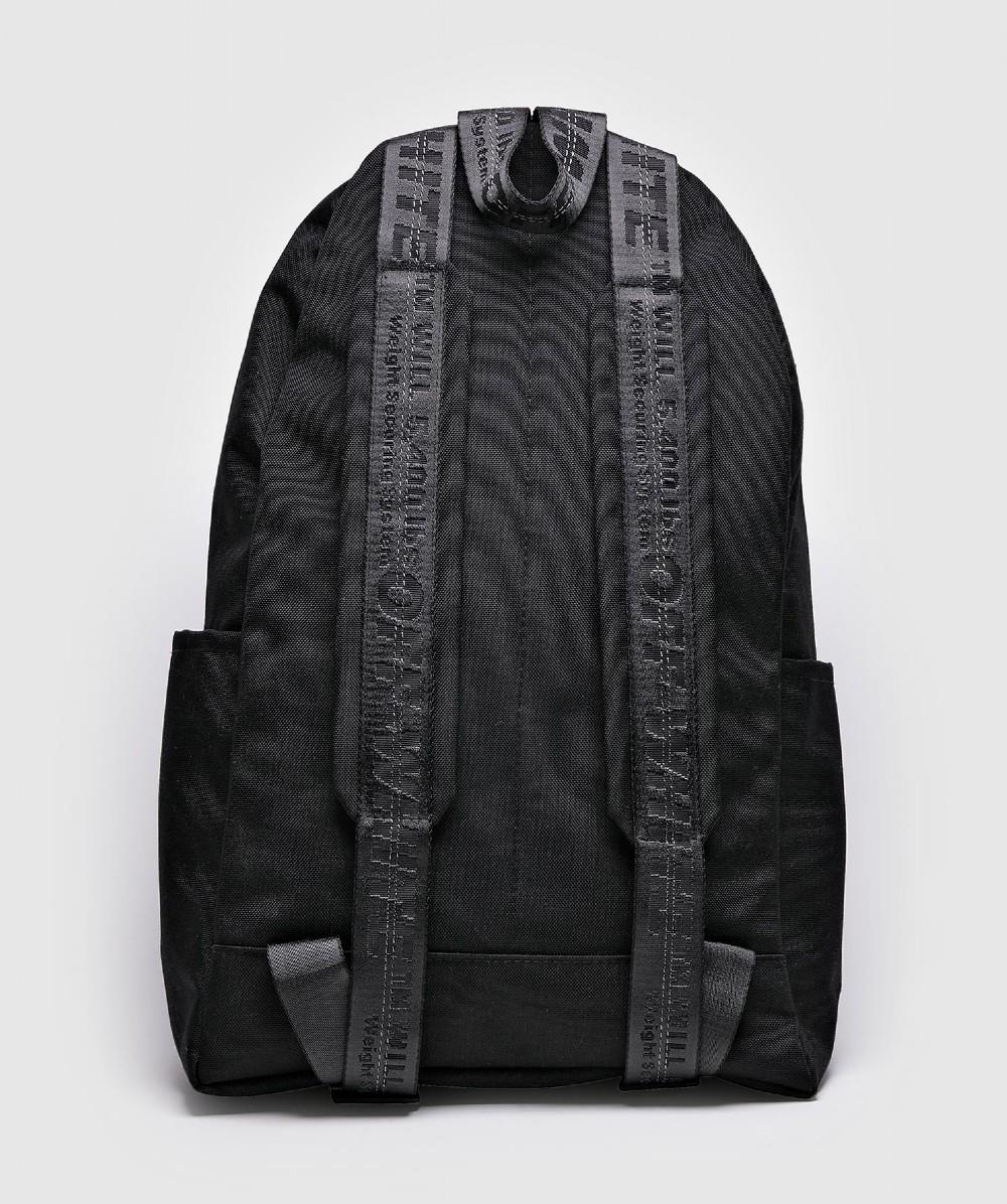 947808b436da Off-White c o Virgil Abloh Quote Backpack in Black for Men - Save 58% - Lyst