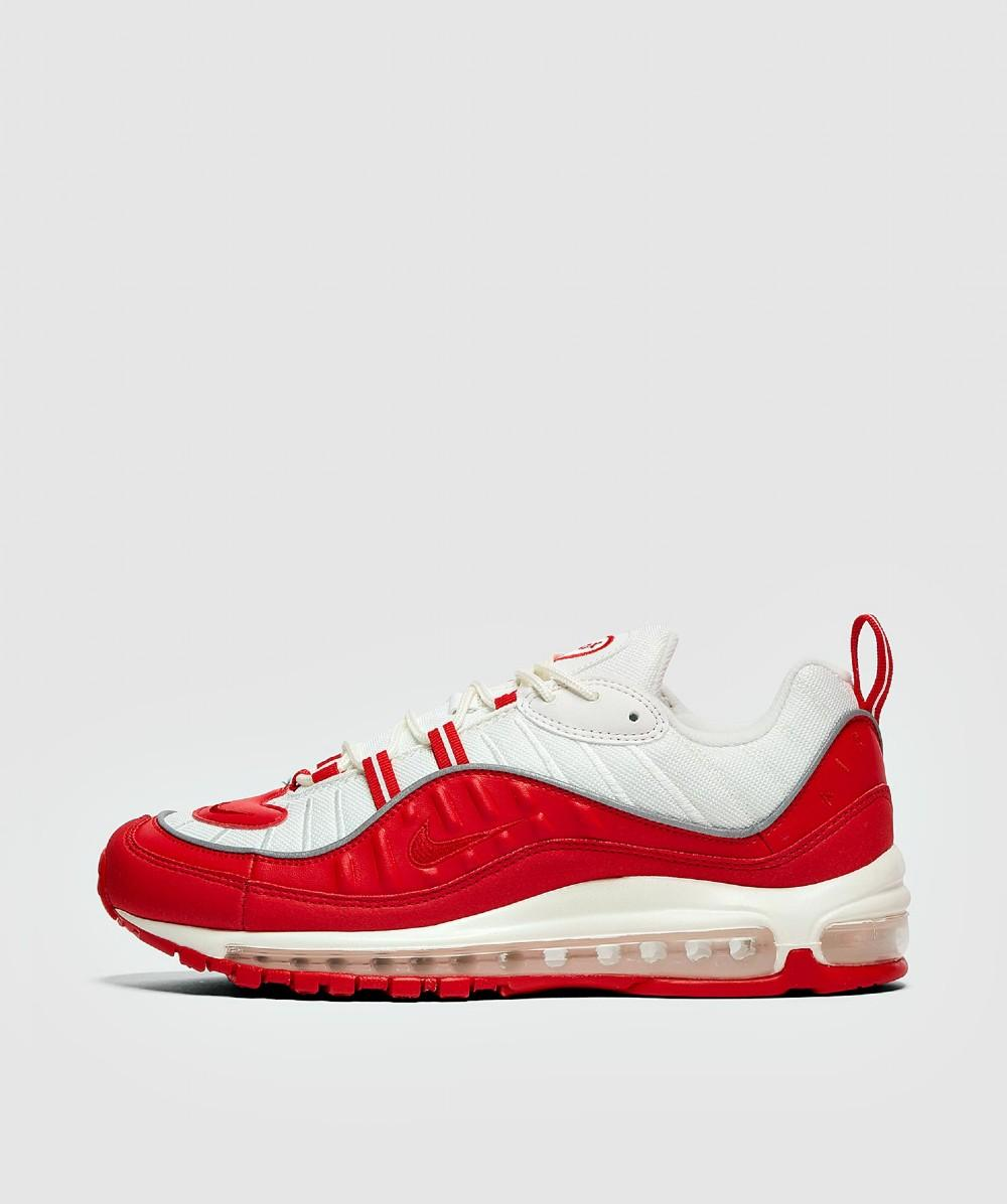 Nike Leather Air Max 98 in White/Red (Red) for Men - Save 91% - Lyst