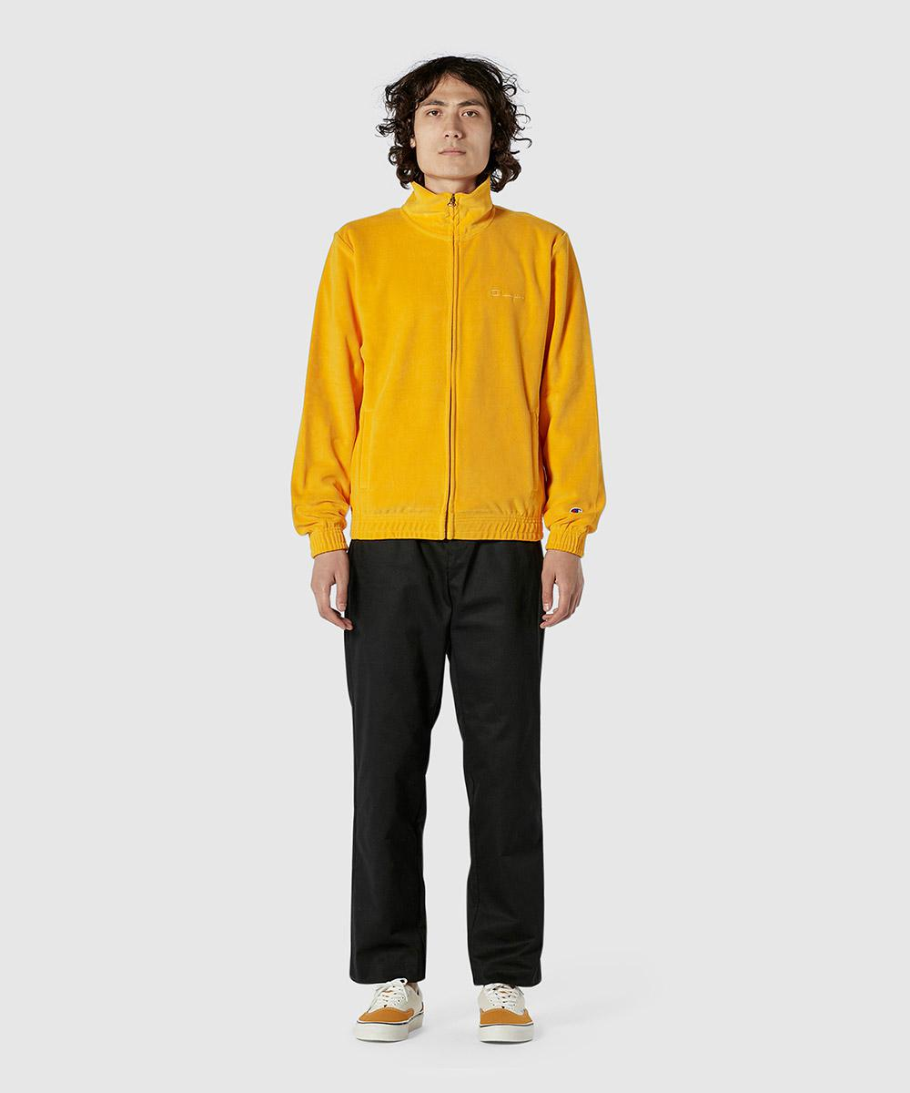 bcf687b5dbee2 Lyst - Champion Velour Zip Up Track Top in Yellow for Men