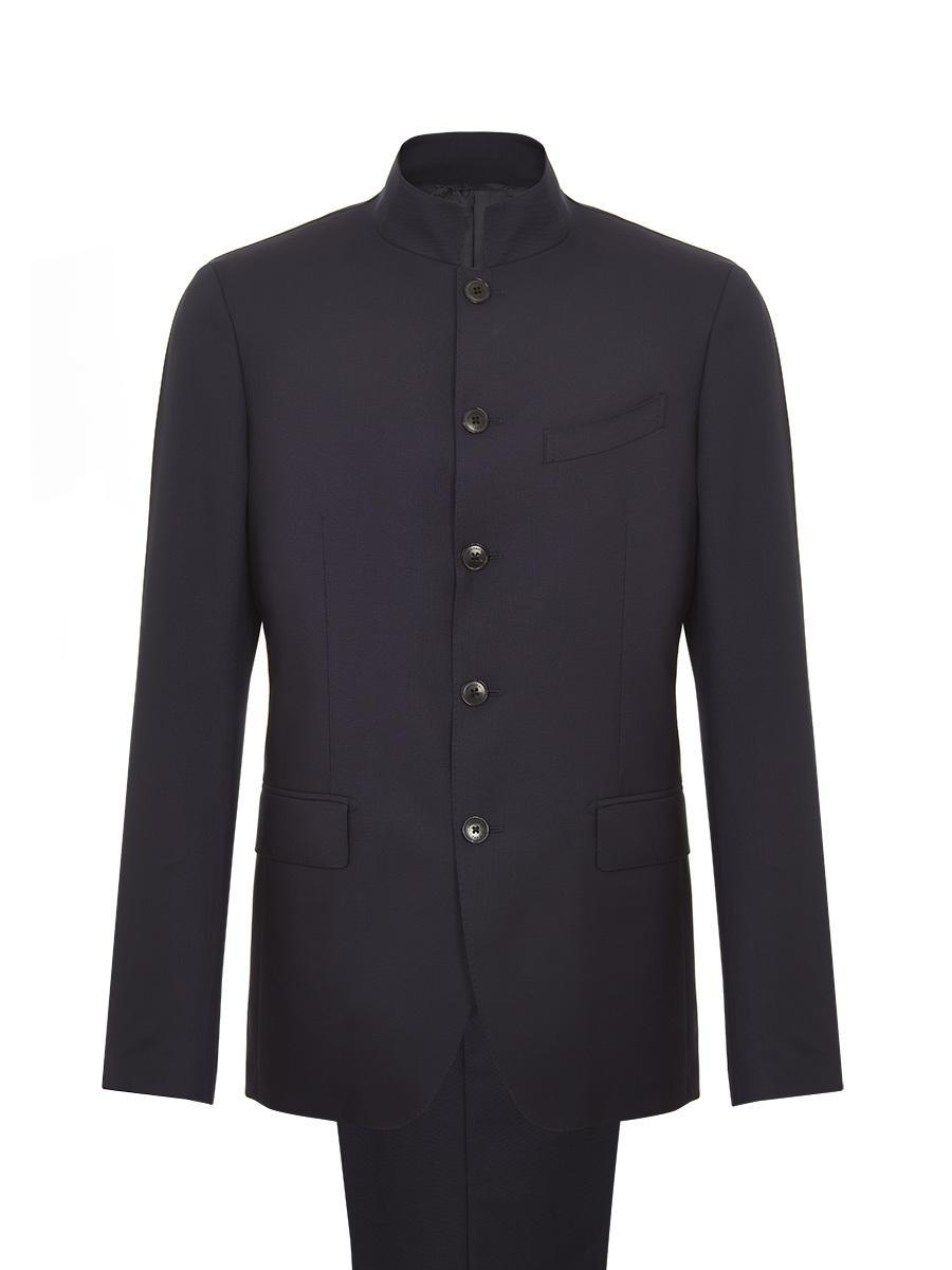 310d9b8b5a29 Shanghai Tang Mandarin Collar Suit in Blue for Men - Lyst