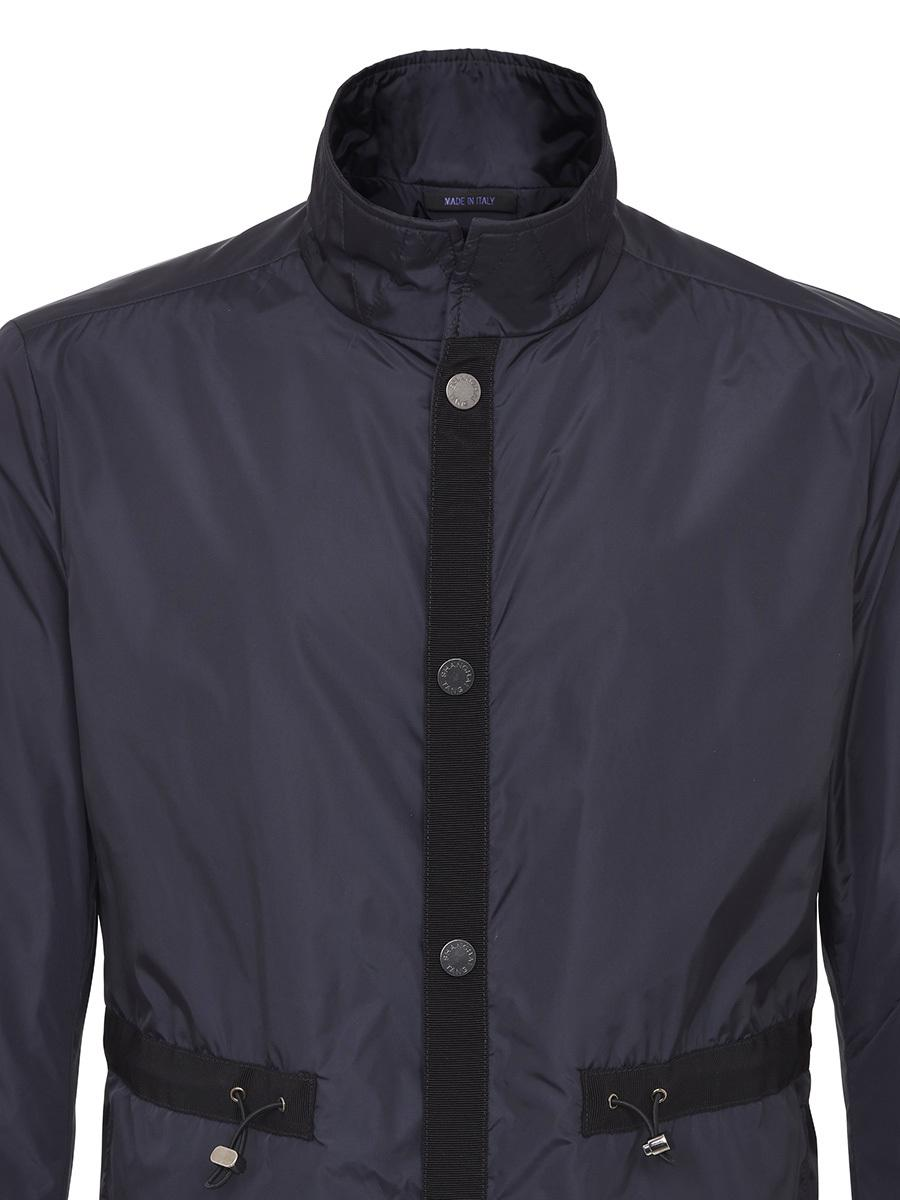 Shanghai Tang Synthetic Nylon Jacket With Grosgrain Trim in Navy (Blue) for Men
