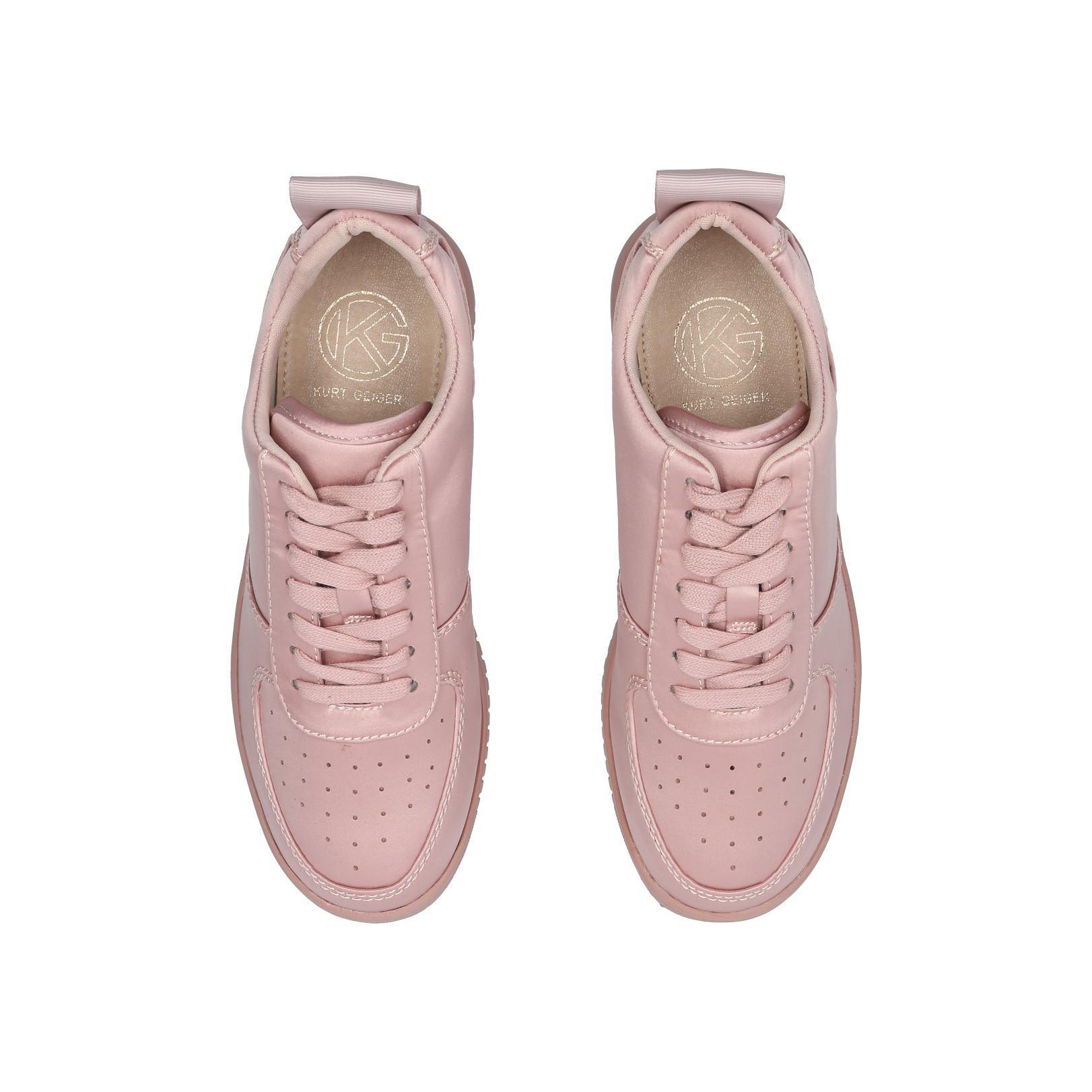 Satin Laura 40 Mm Heel Sneakers Pink