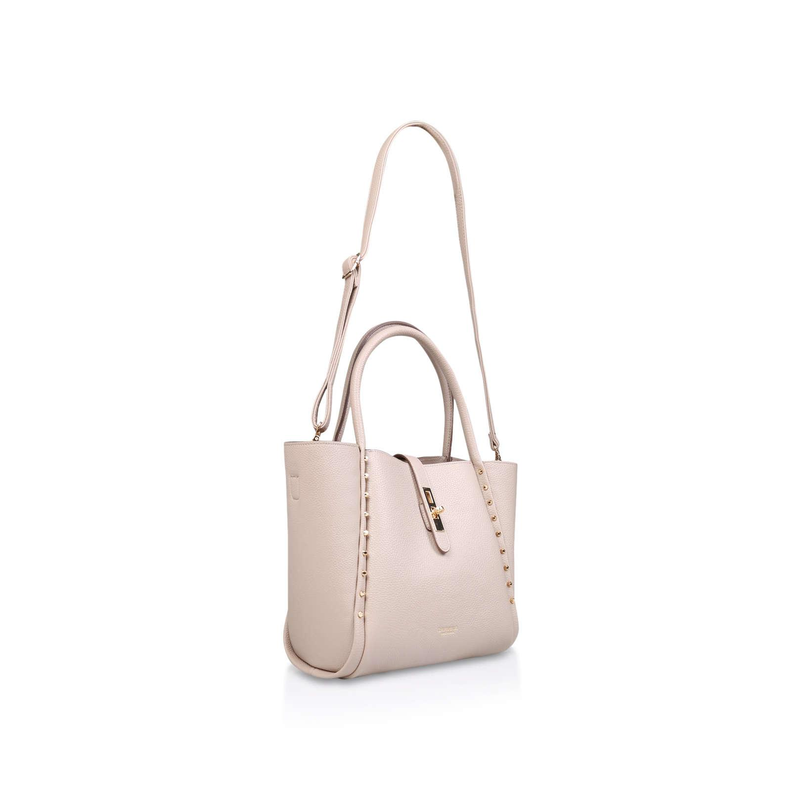 Carvela Kurt Geiger Synthetic Shar Studded Soft Tote No Heel Handbags Nude in Natural