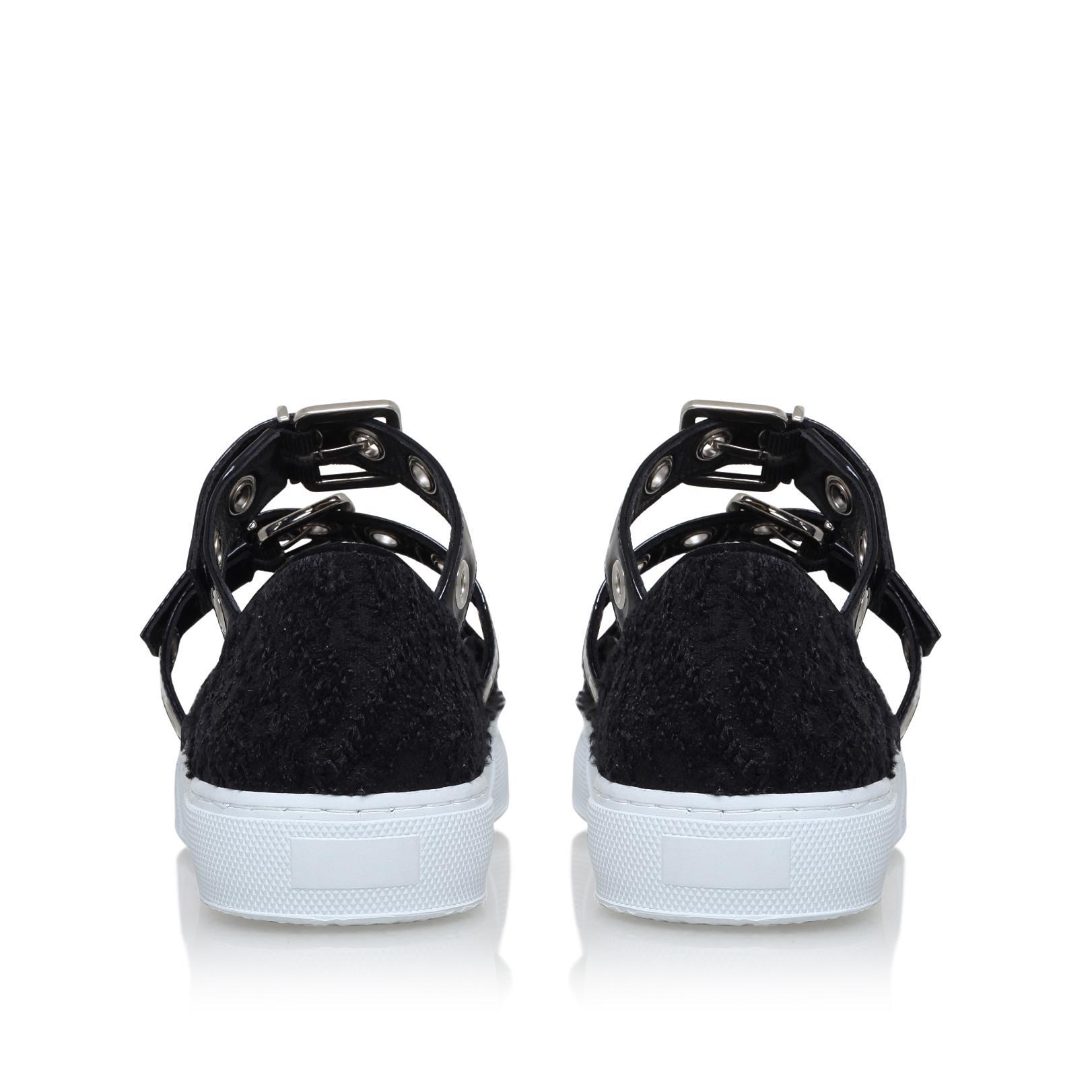 Self-Portrait Synthetic Texas Sneaker in Black