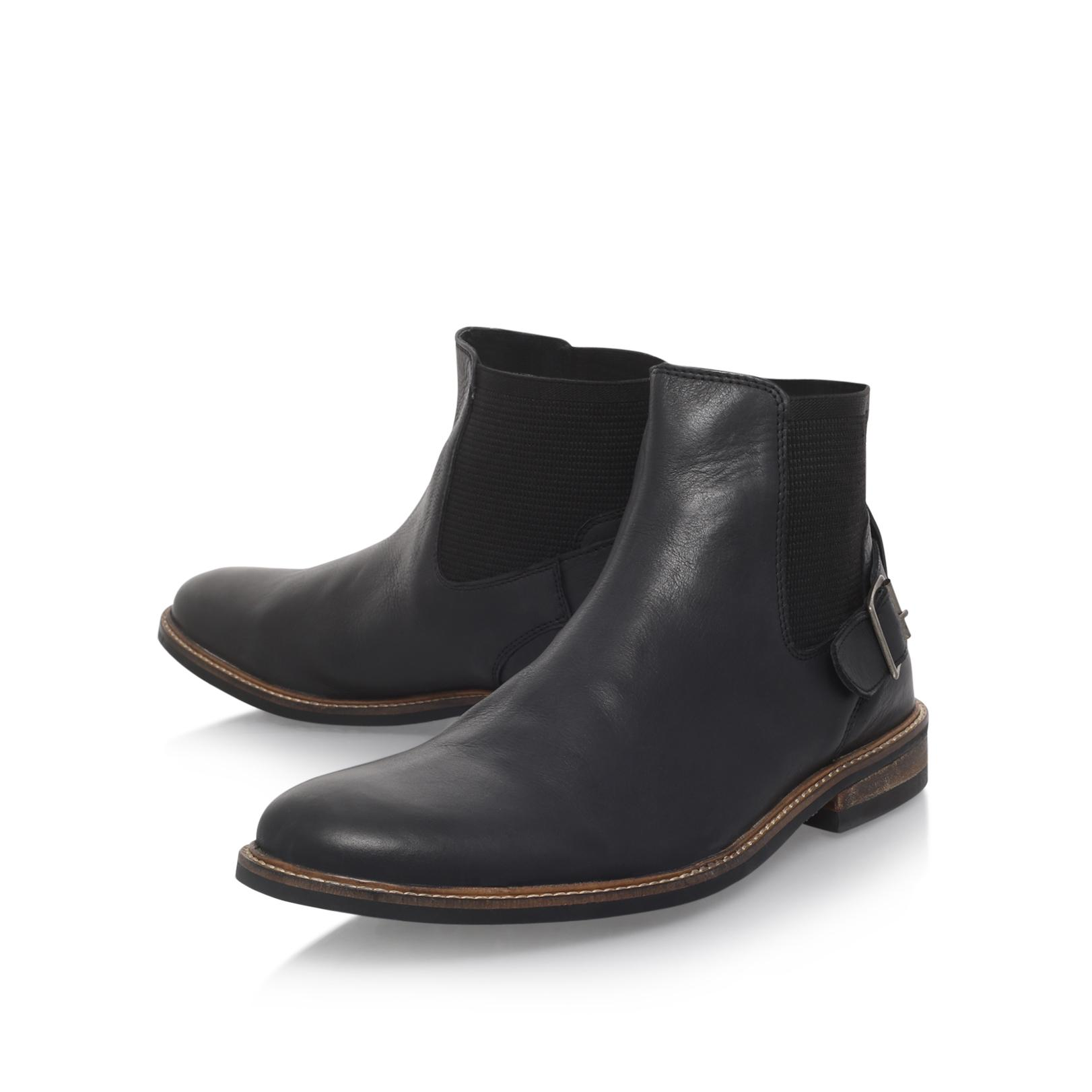 Paolo Vandini Pentagon Black Leather Flat Boots for Men