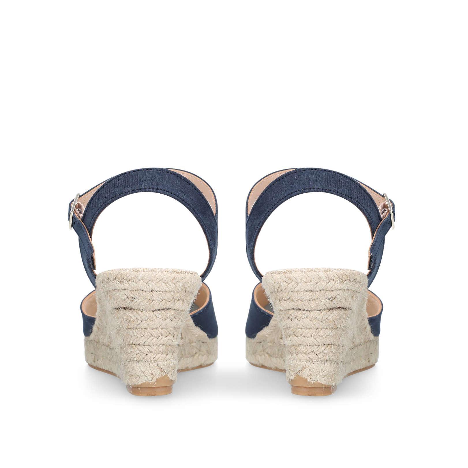 c24afbdff97 Carvela Kurt Geiger Blue Sabrina 2 Navy Wedge Sandal