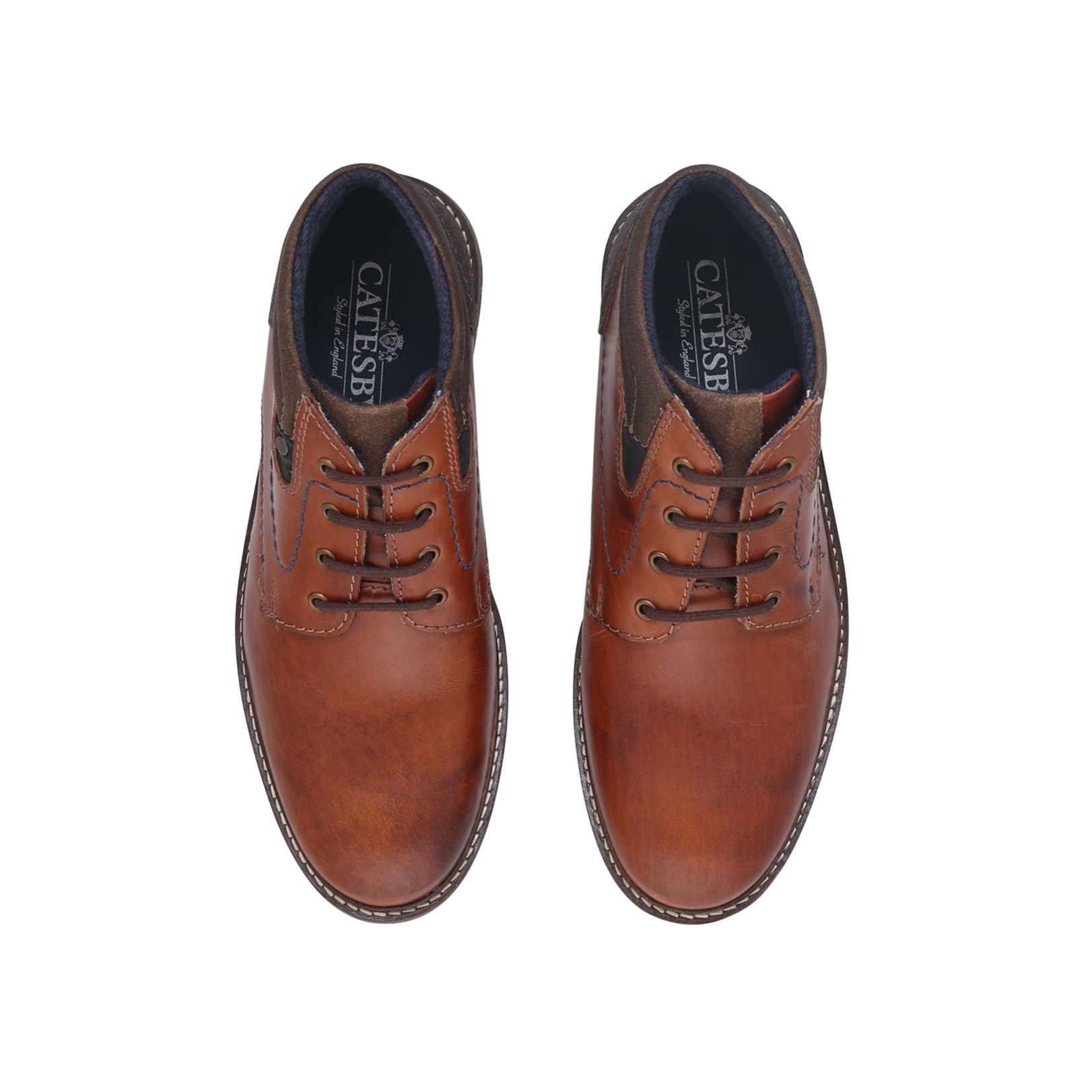Catesby Thomas Joseph Brown Leather Boots for Men