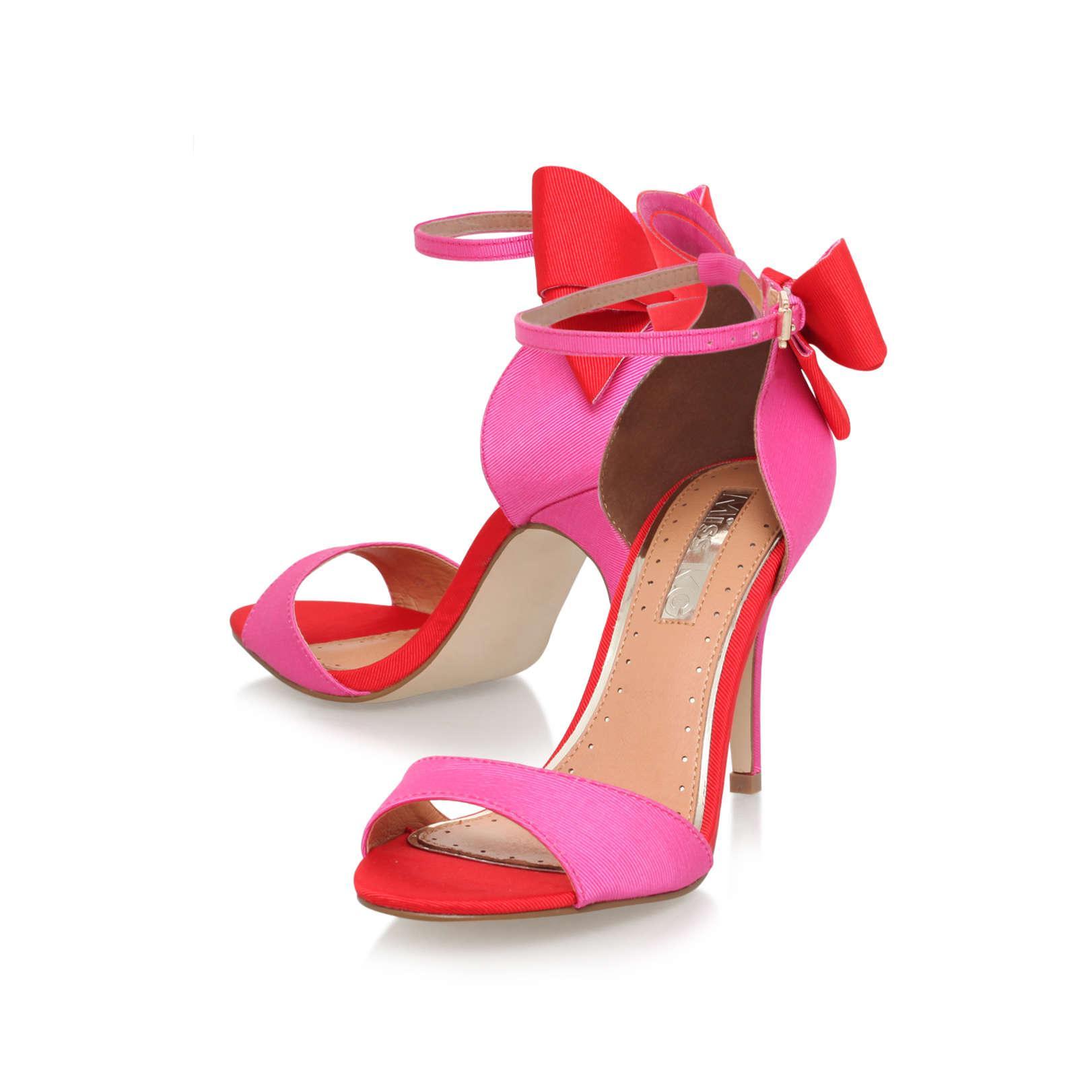 Lyst - Miss Kg Faleece Embellished Heeled Sandals in Metallic