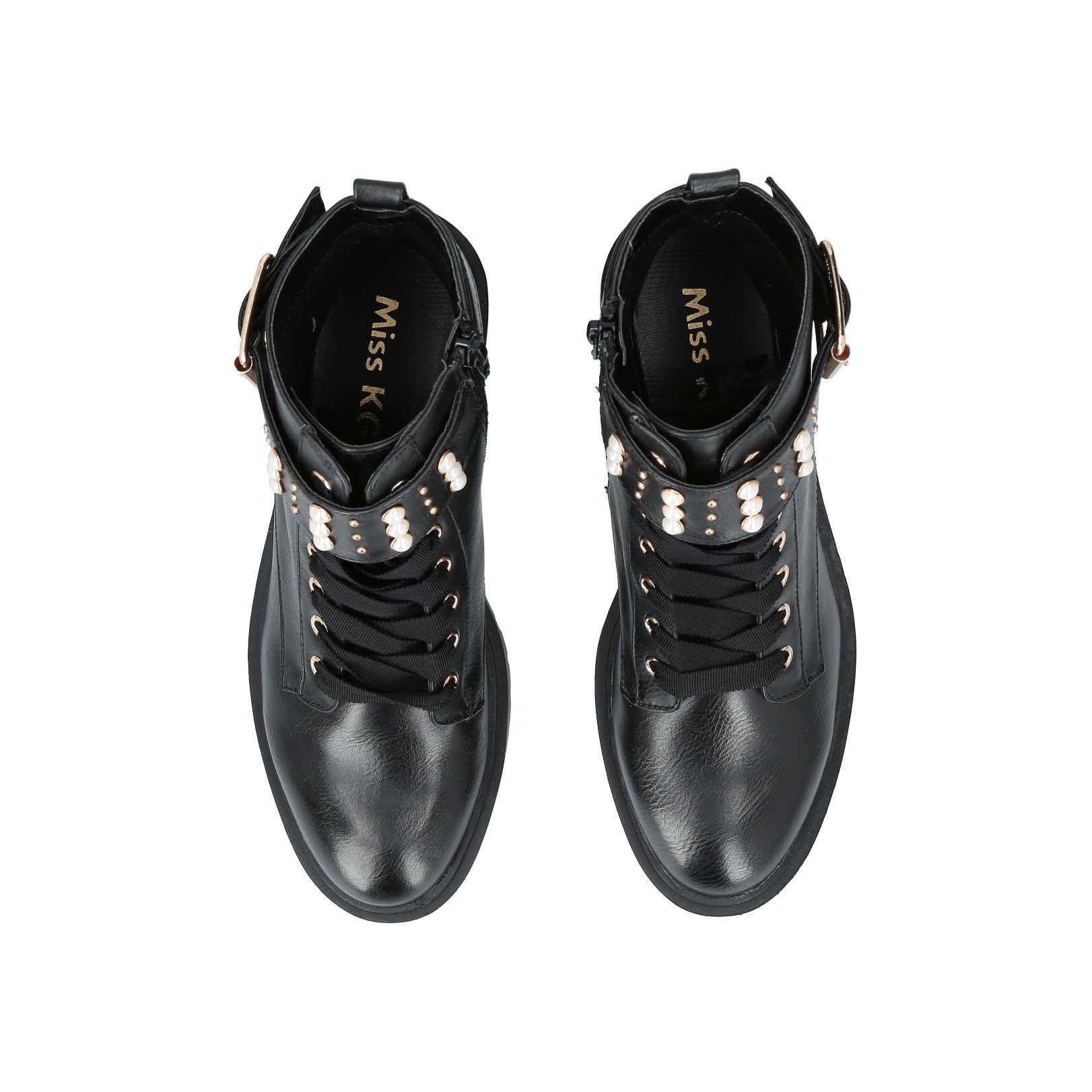 22670ab797f Women's Hatty Black Biker Boot Lace Up Boots