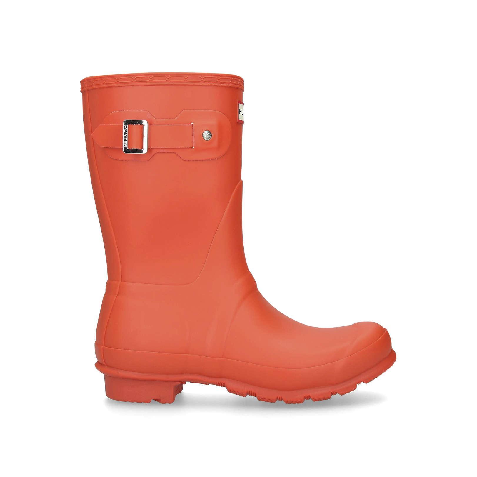 HUNTER Rubber Original Short Matt Women Original Short Matt 91-orange 00215-high Leg Boots