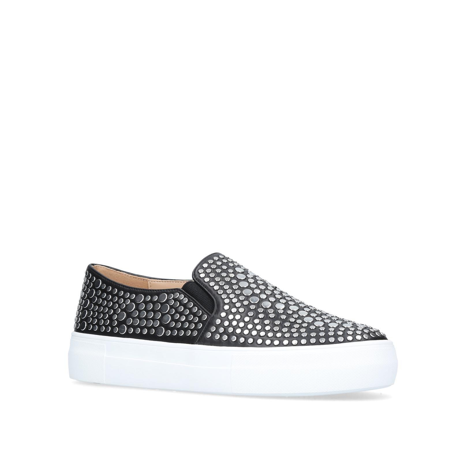 Vince Camuto Suede Kindra �?Studded Platform Sneaker in Black