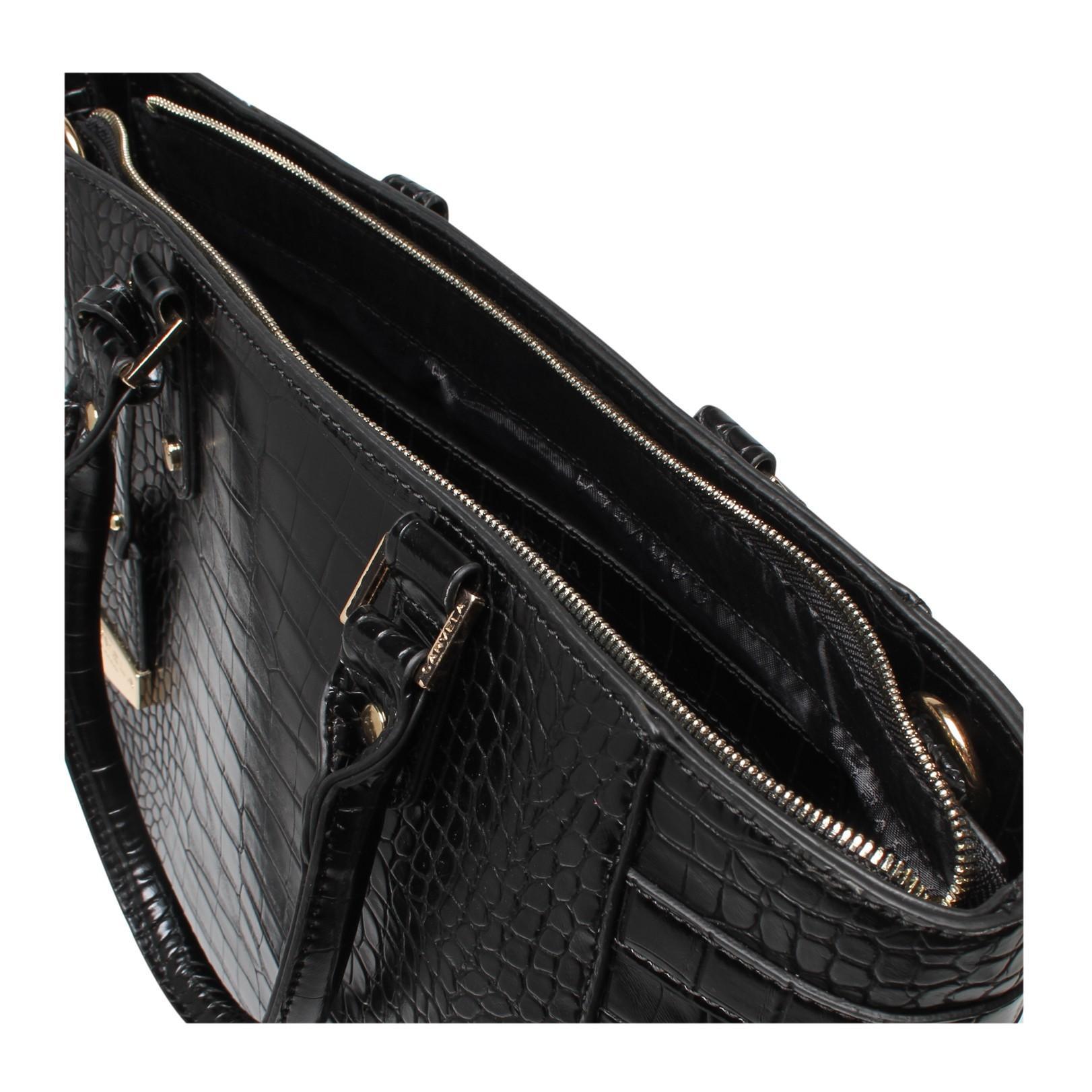 Carvela Kurt Geiger Synthetic Arlette Croc Tote Bag in Black