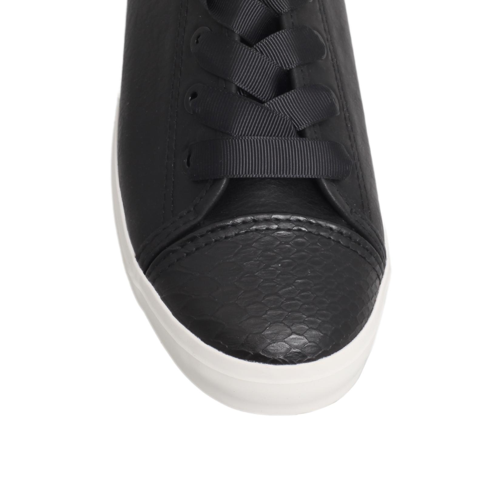 Miss Kg Denim Leni Flat Lace Up Trainers in Black